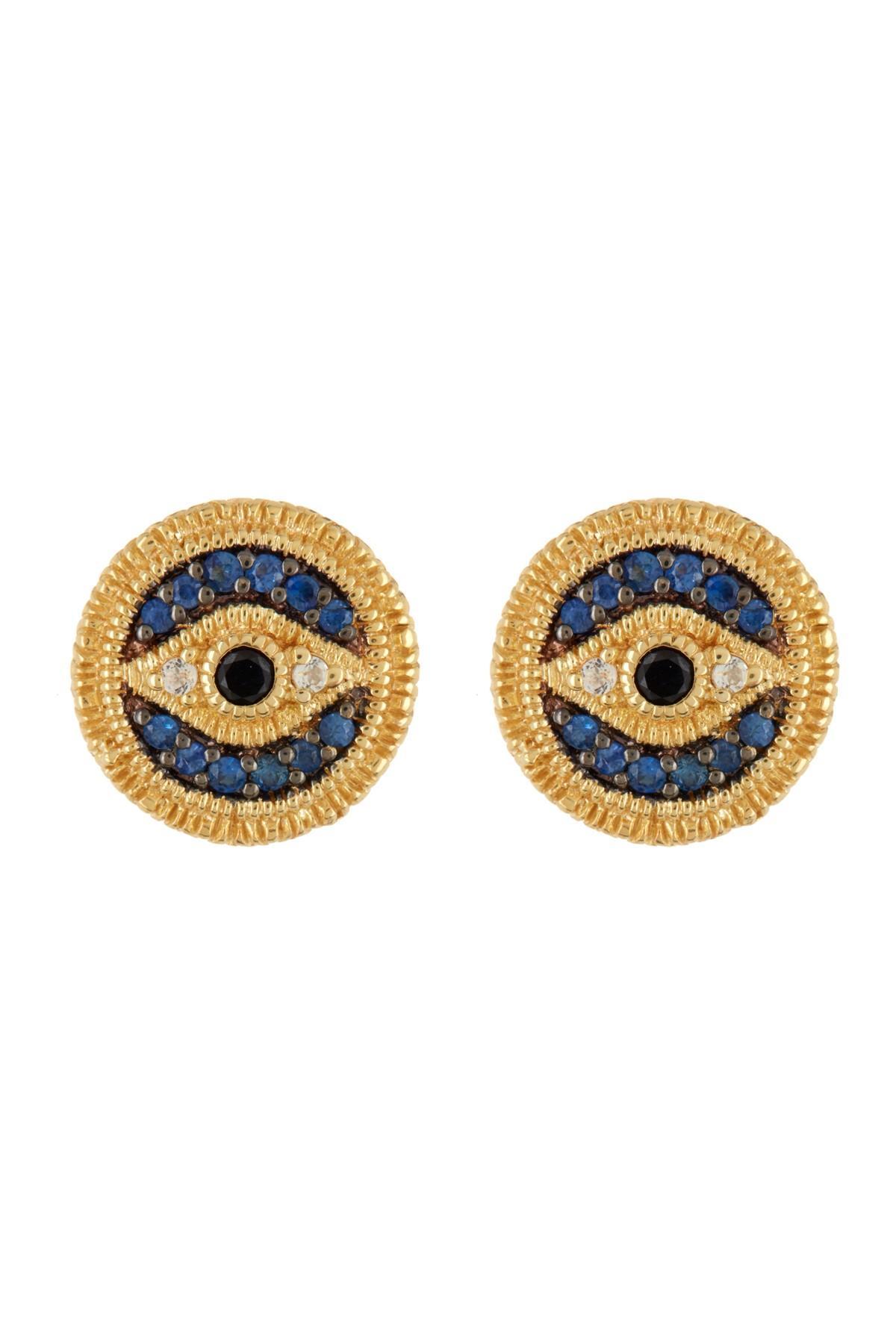 d568f7b0d Lyst - Judith Ripka Gold Vermeil Evil Eye Stud Earrings