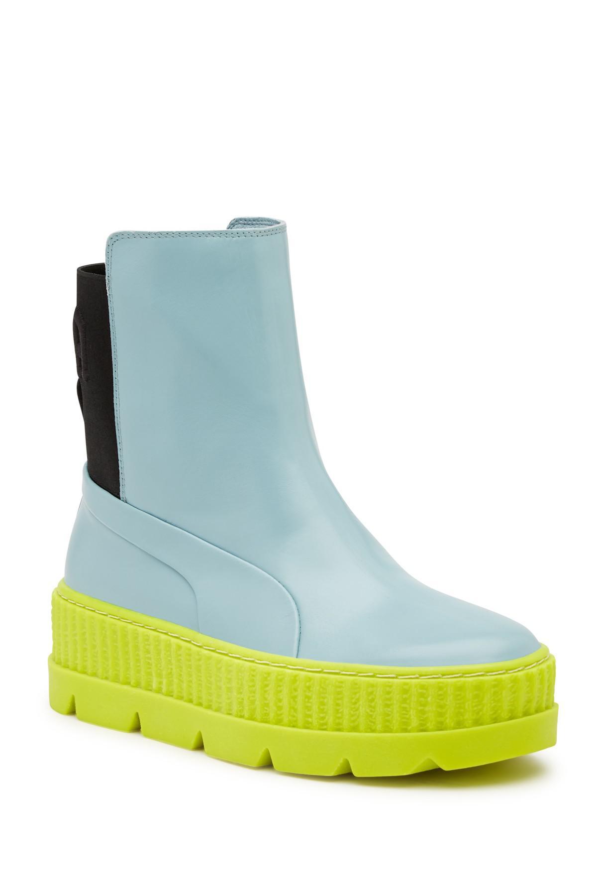 1c125319cee259 Lyst - PUMA Fenty By Rihanna Chelsea Boot Creeper Sneaker in Blue