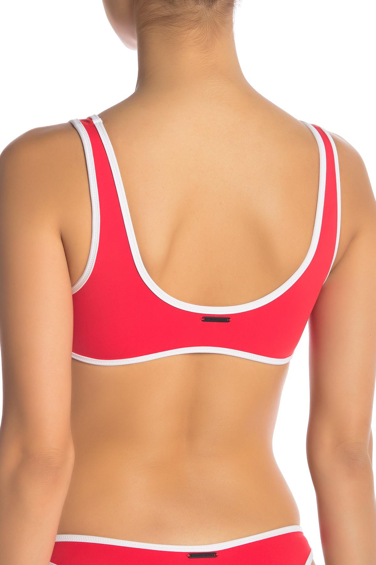 6dd31ade2197a Lyst - Kendall + Kylie Sporty Bralette Bikini Top in Red