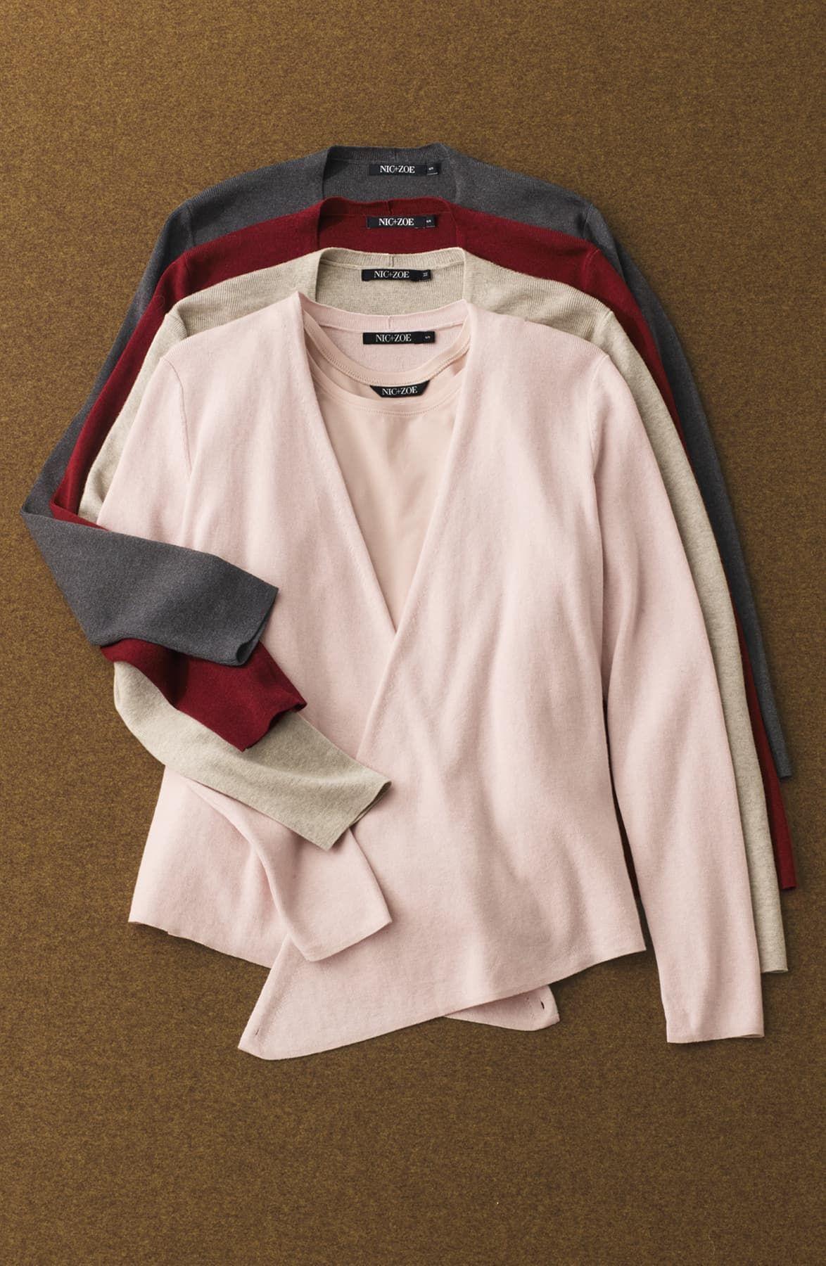 NIC+ZOE 4-way Convertible Three-quarter Sleeve Cardigan