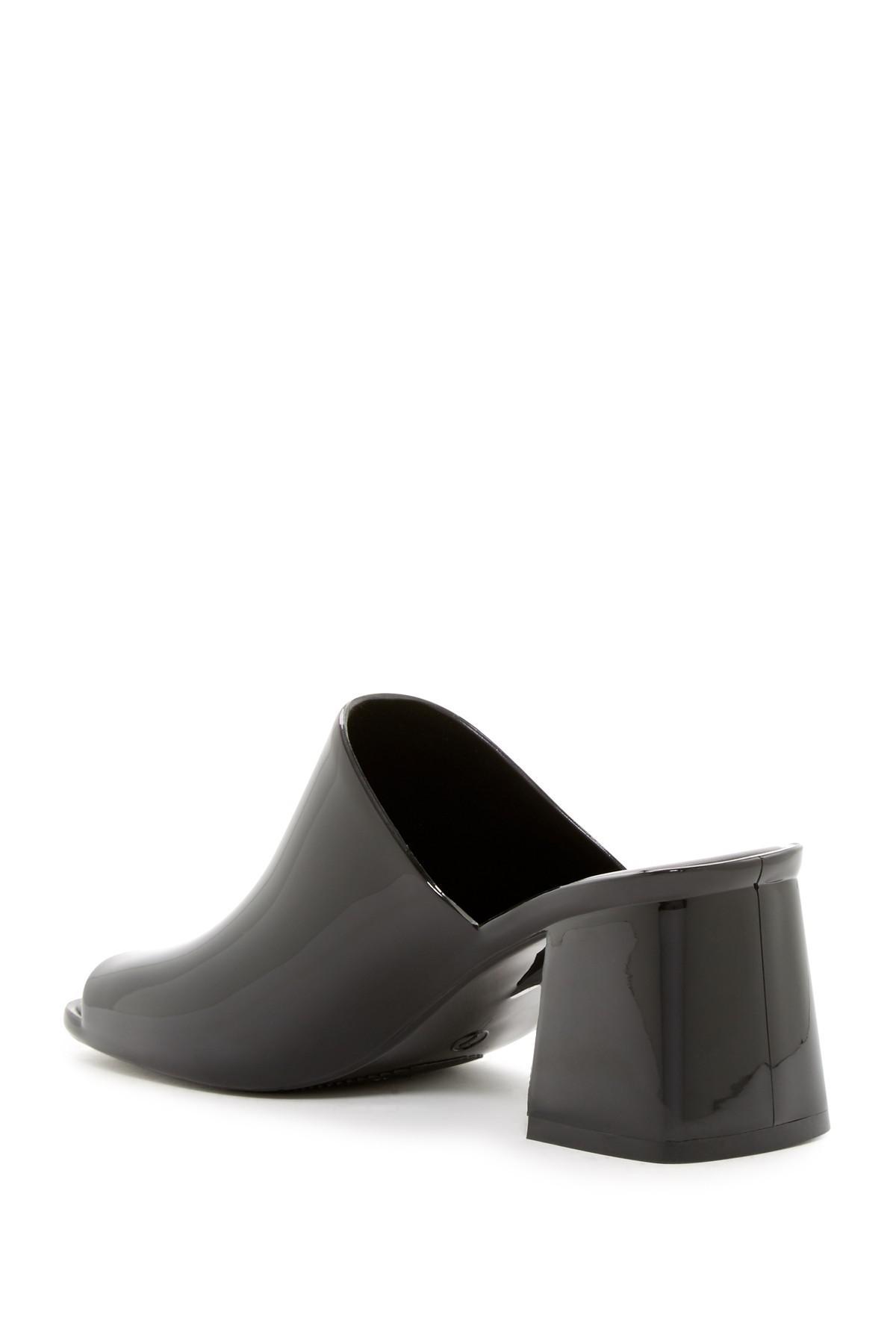 c8289c237a50 Lyst - Jeffrey Campbell Petra Jelly Block Heel Mule in Black