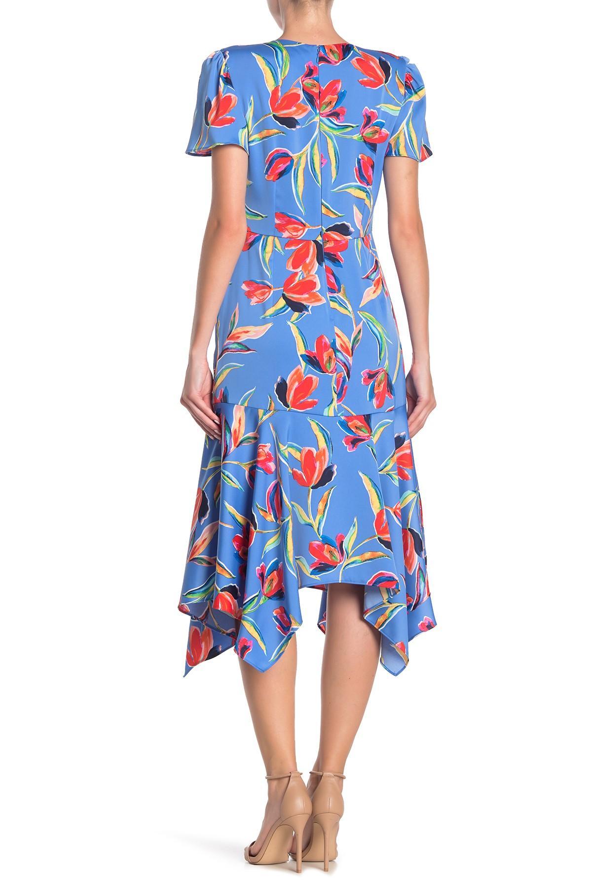 bd137ea44 Maggy London Happy Tulip Hanky Hem Dress in Blue - Lyst