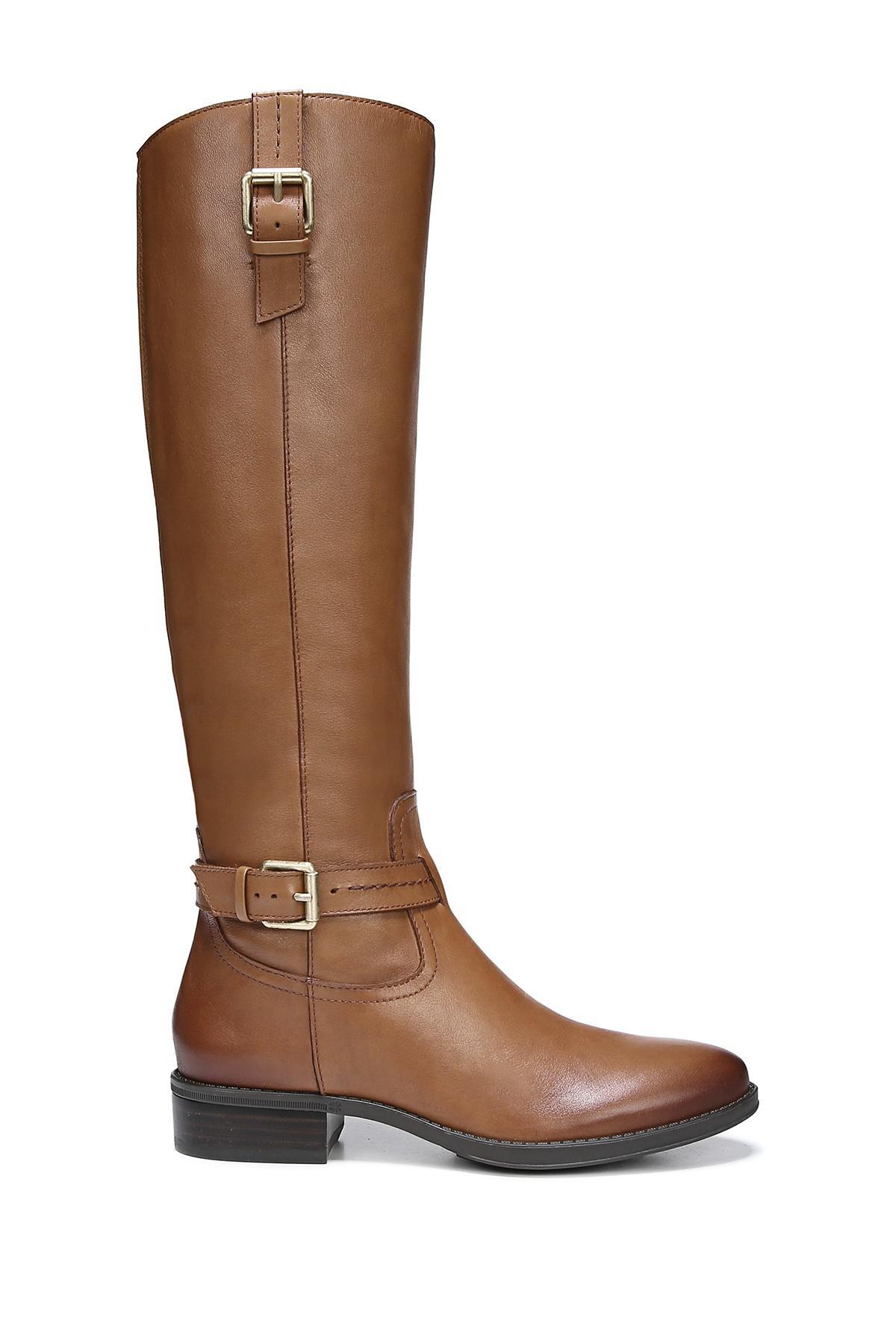 686b6d615d1 Sam Edelman Brown Ponce Buckle Tall Boot