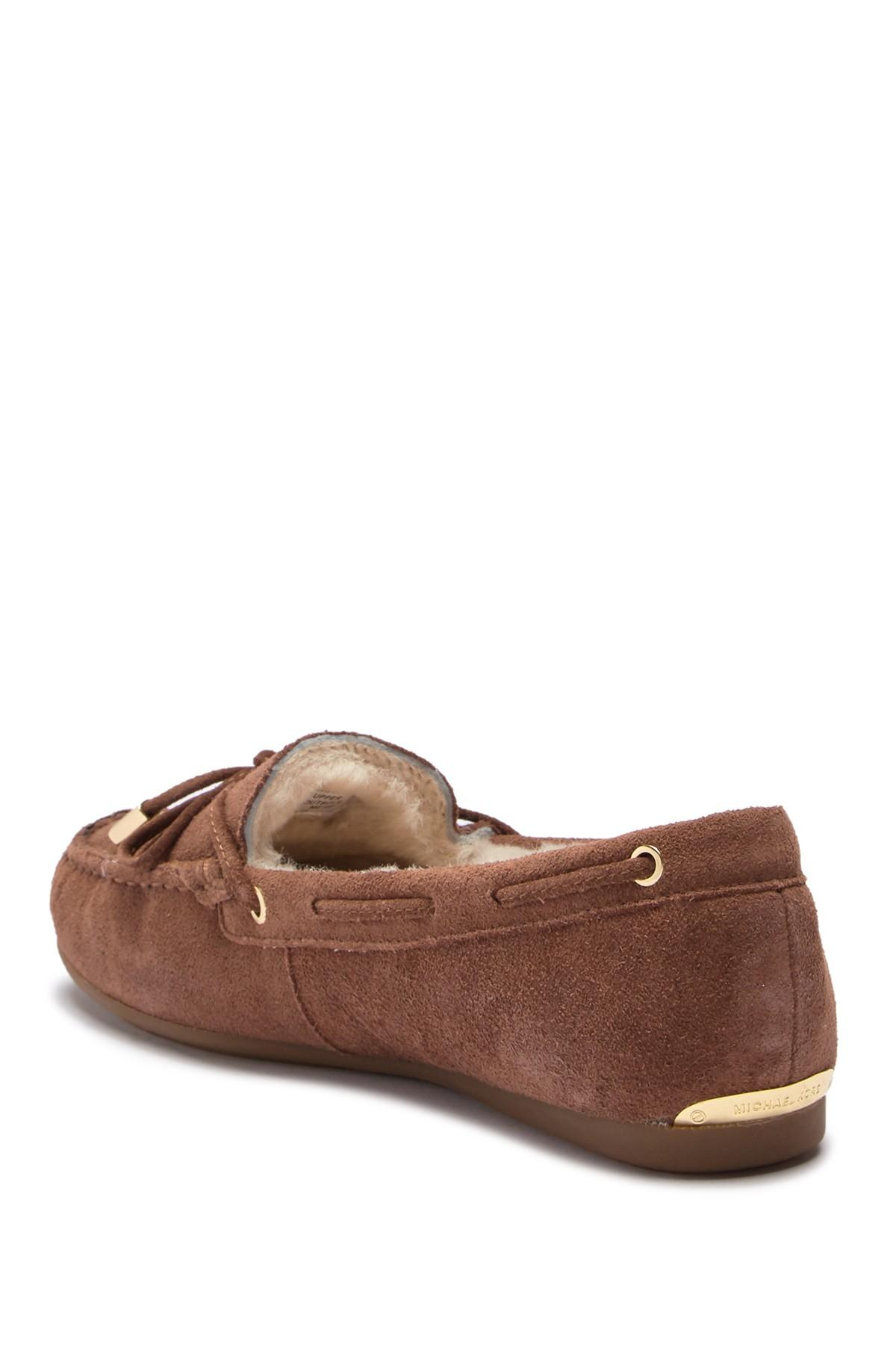1ebdc25a91ca3 MICHAEL Michael Kors - Brown Genuine Shearling Lined Sutton Moccasin -  Lyst. View fullscreen