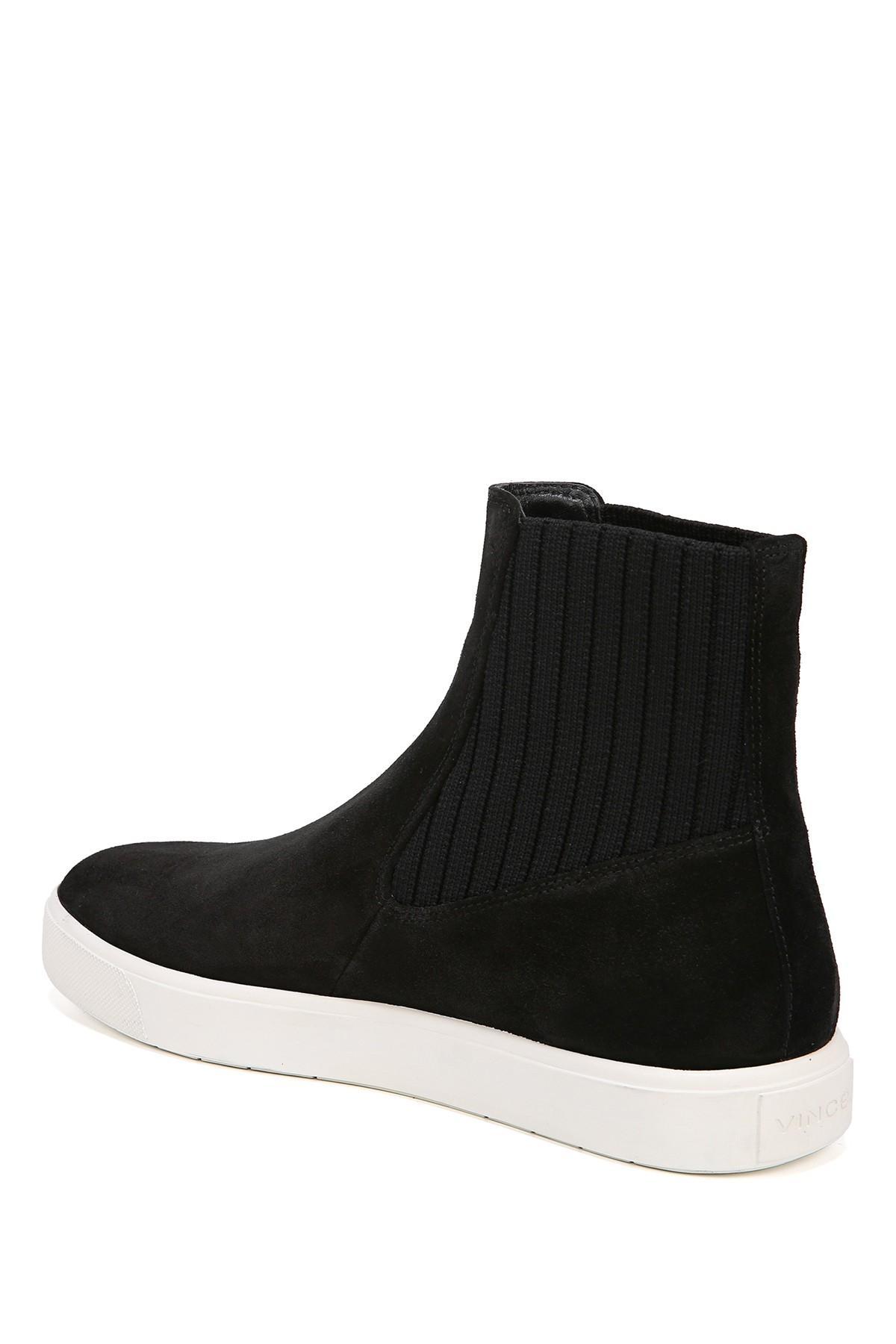 Vince Coleman High Top Sneaker in Black