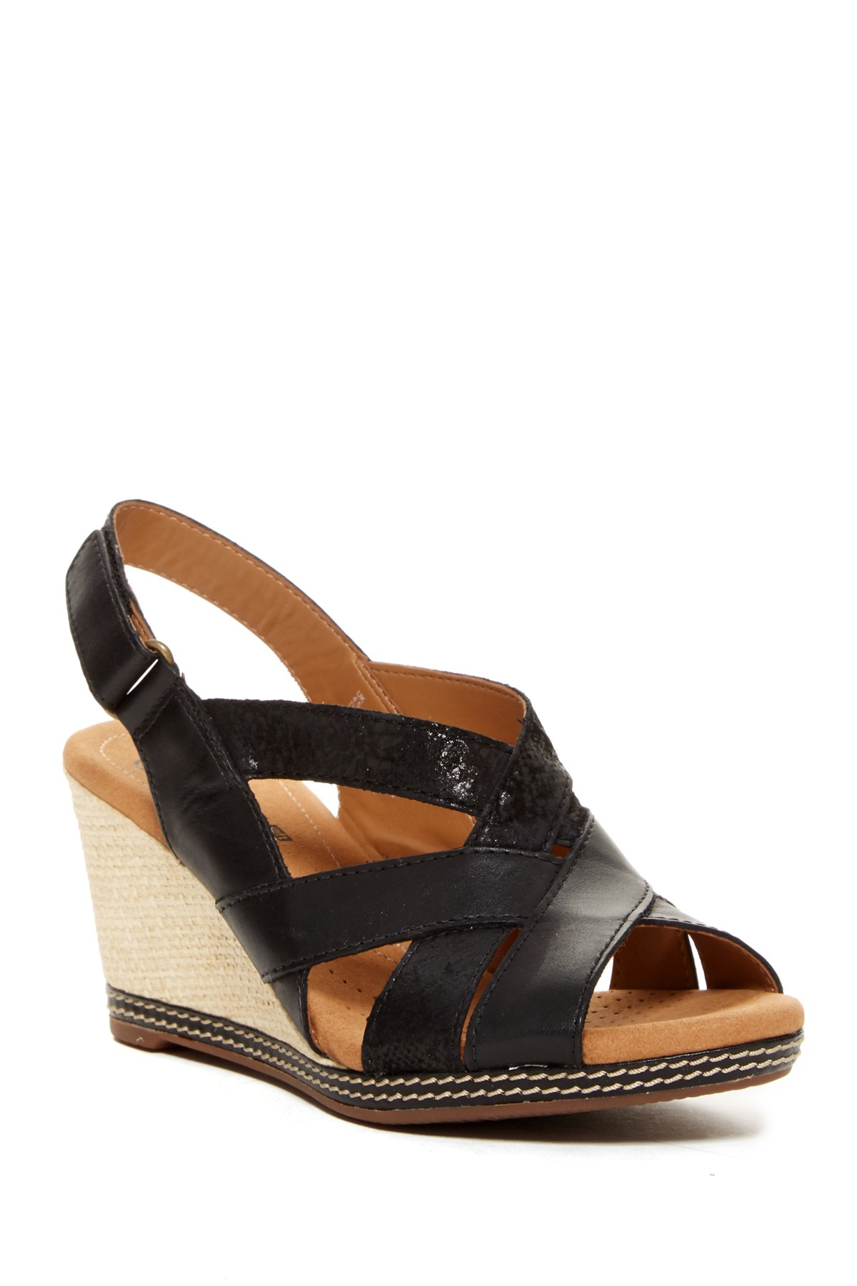clarks helio coral wedge sandal wide width available in