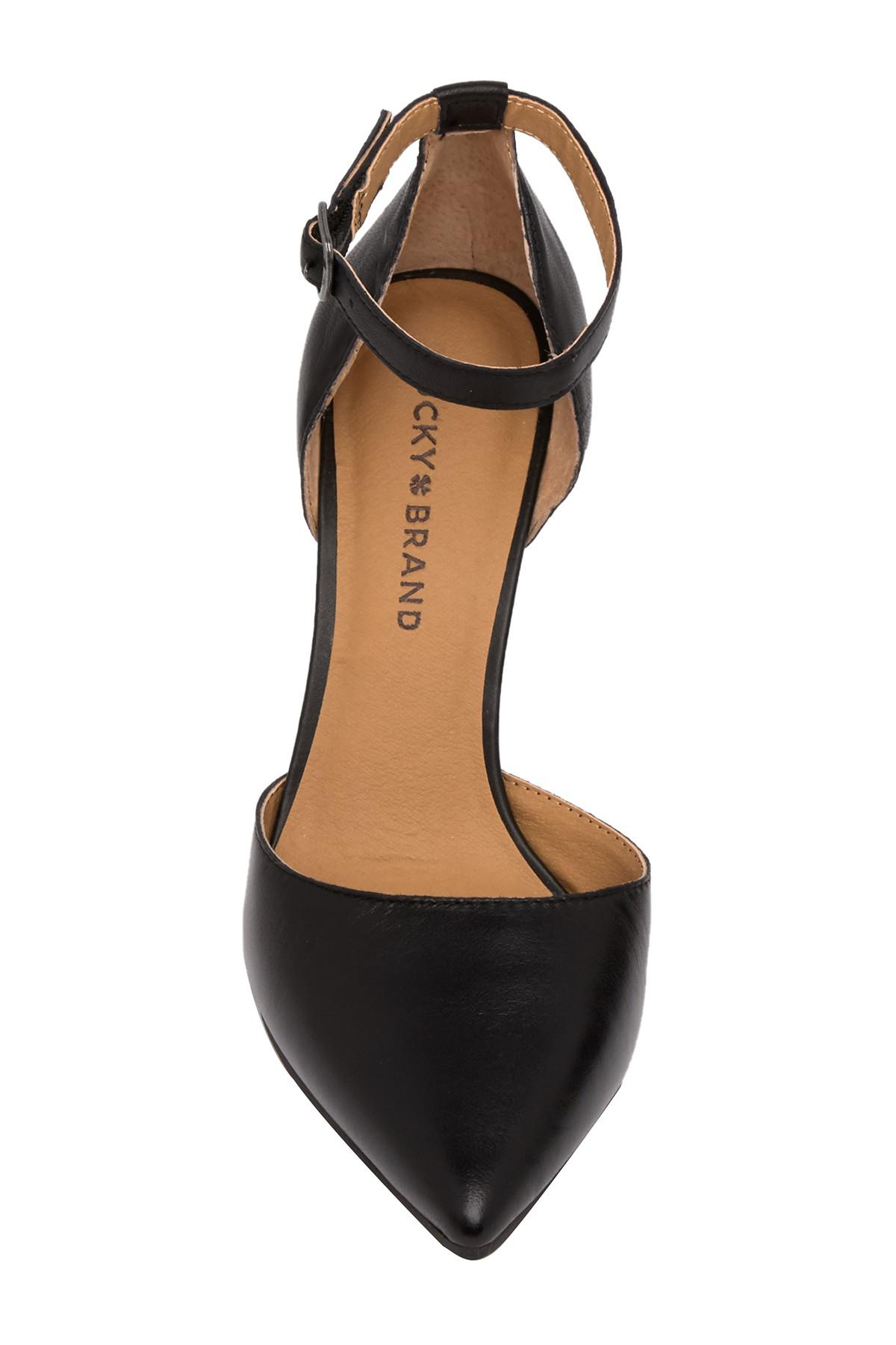 5cbc489aa5 Lyst - Lucky Brand Tukko D'orsay Ankle Strap Pump in Black