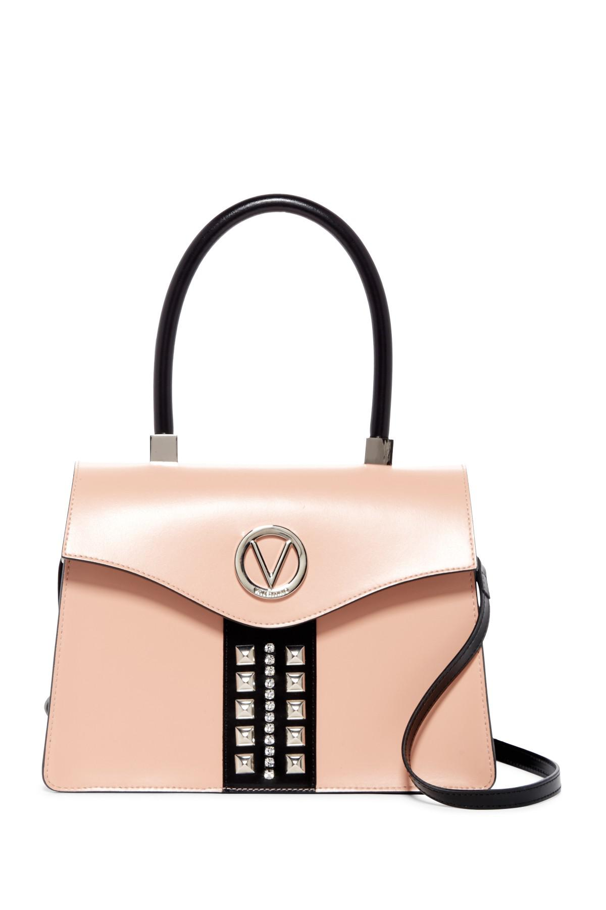 3764d5b1e09 Valentino By Mario Valentino Melanie Sve Rose Black Leather Satchel ...
