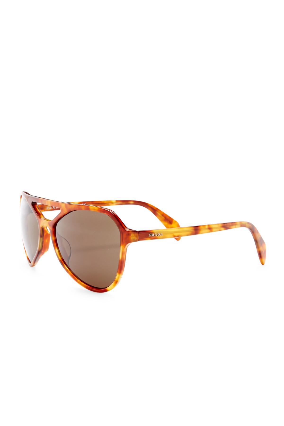 789b86f83b2d Lyst - Prada Men s Catwalk Aviator Acetate Frame Sunglasses for Men
