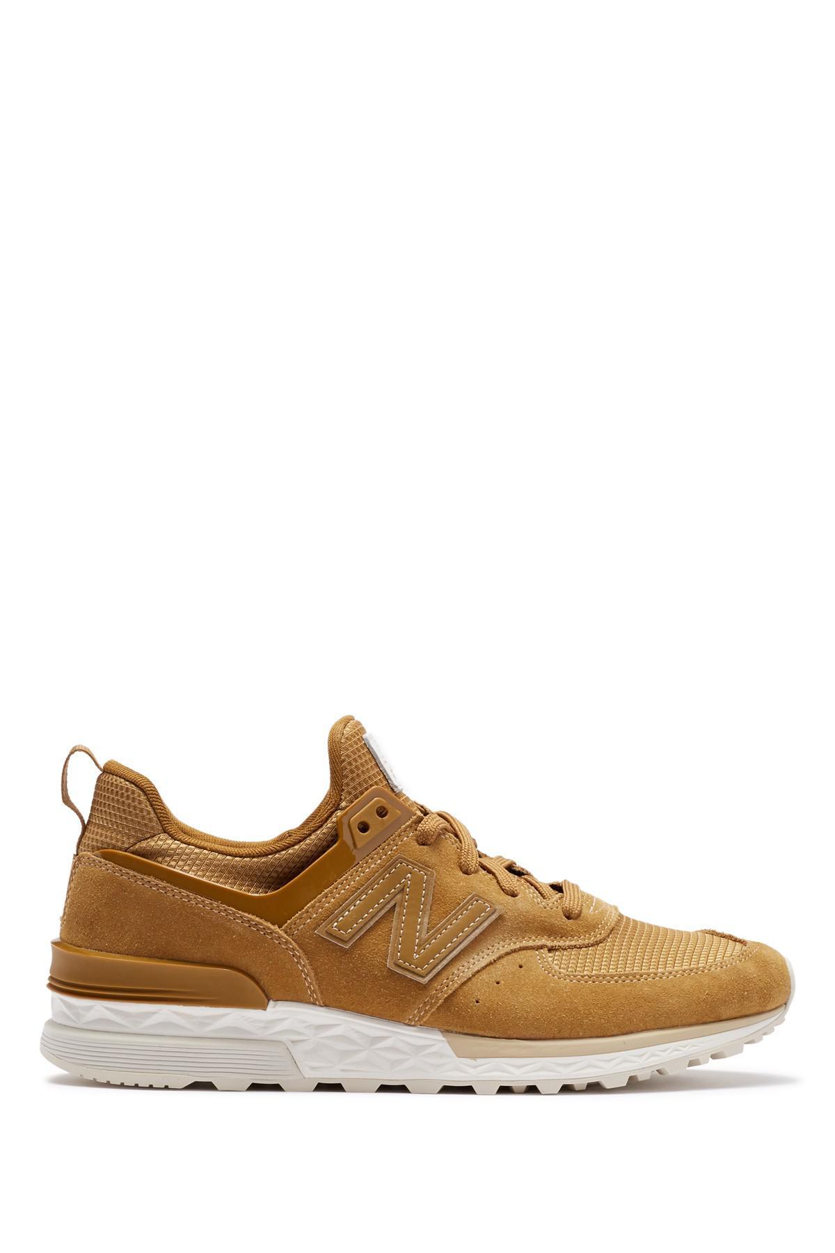 New Balance 574 Sport Suede Sneaker in Brown for Men - Lyst