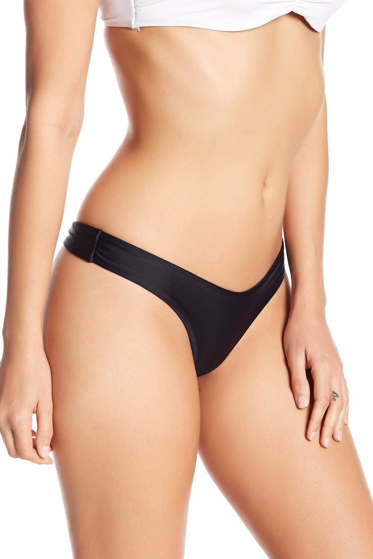 d4c3bfa9041 Mia Marcelle California Thong Bikini Bottom in Black - Lyst