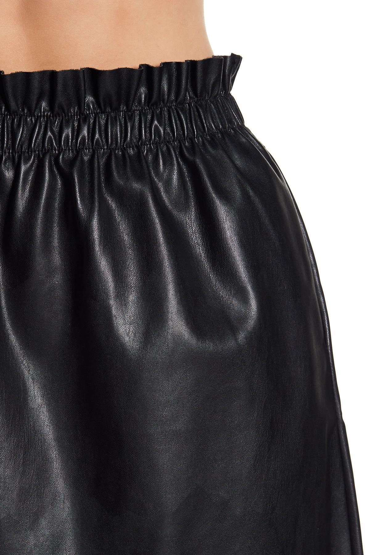 terrific value diverse styles store Dex Black Pull On Faux Leather Mini Skirt