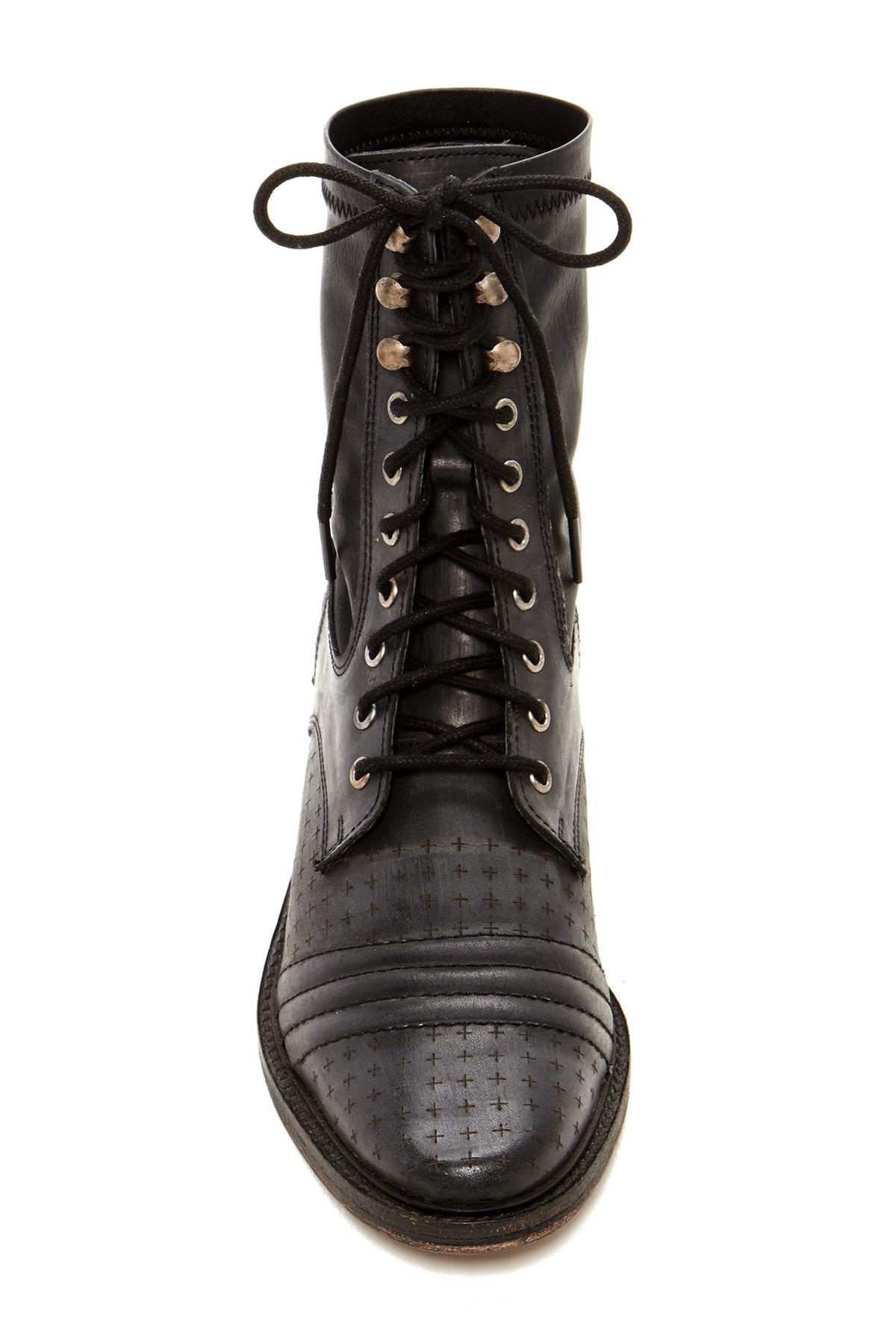 a2d42b681703a Lyst - Free People Sounder Lace-up Boot in Black