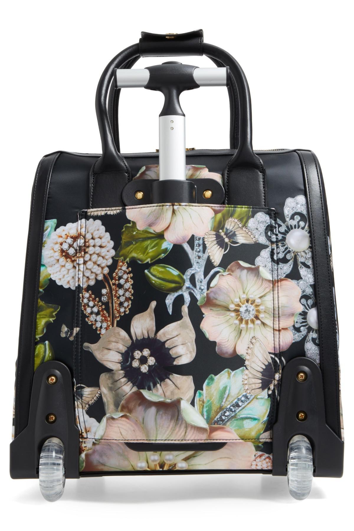 a96bfdf97 Ted Baker Inez Gem Gardens Two-wheel Travel Bag in Black - Lyst