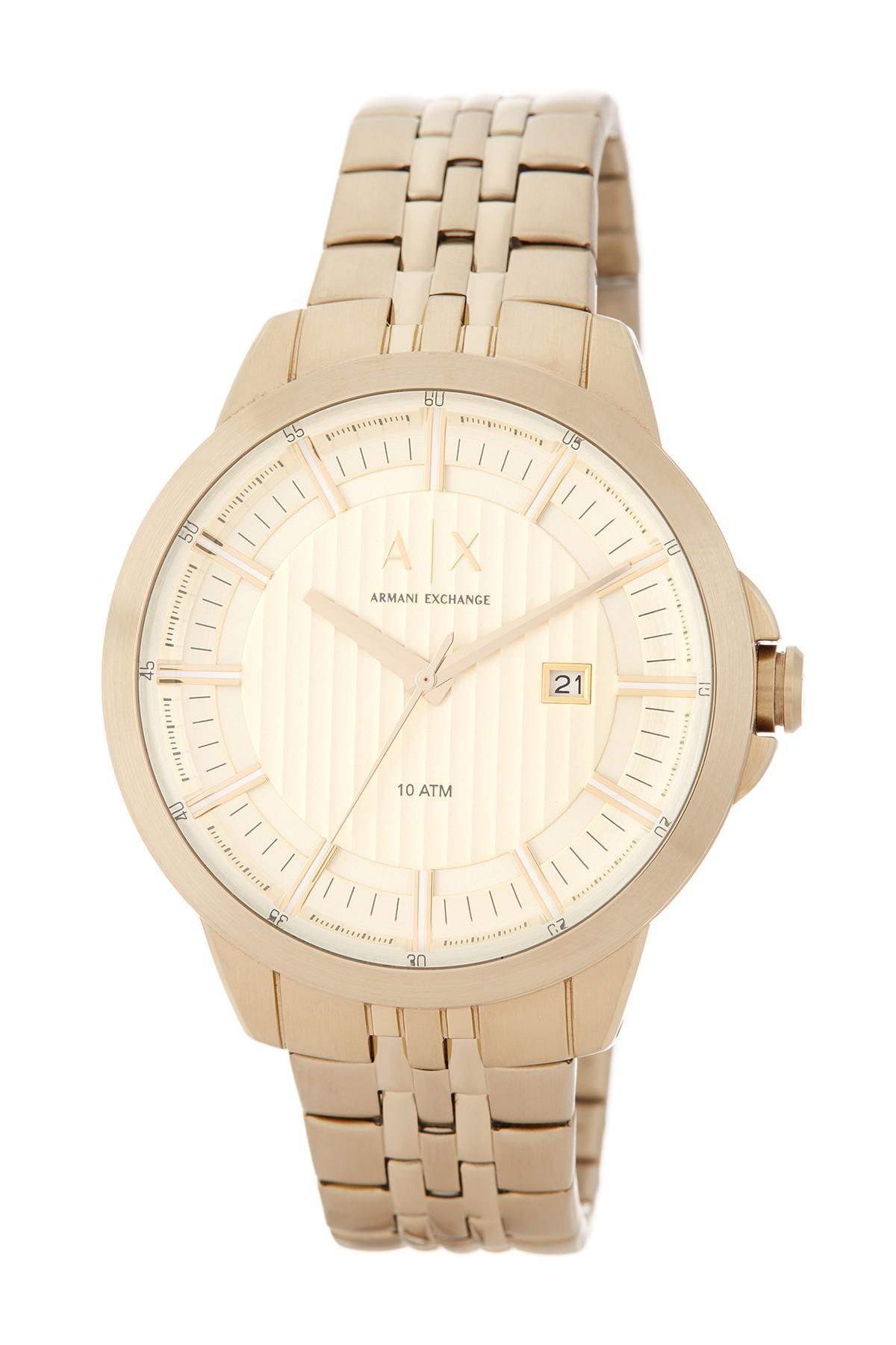 c9ca3f4761f Lyst - Armani Exchange Men s Copeland Bracelet Watch in Metallic for Men