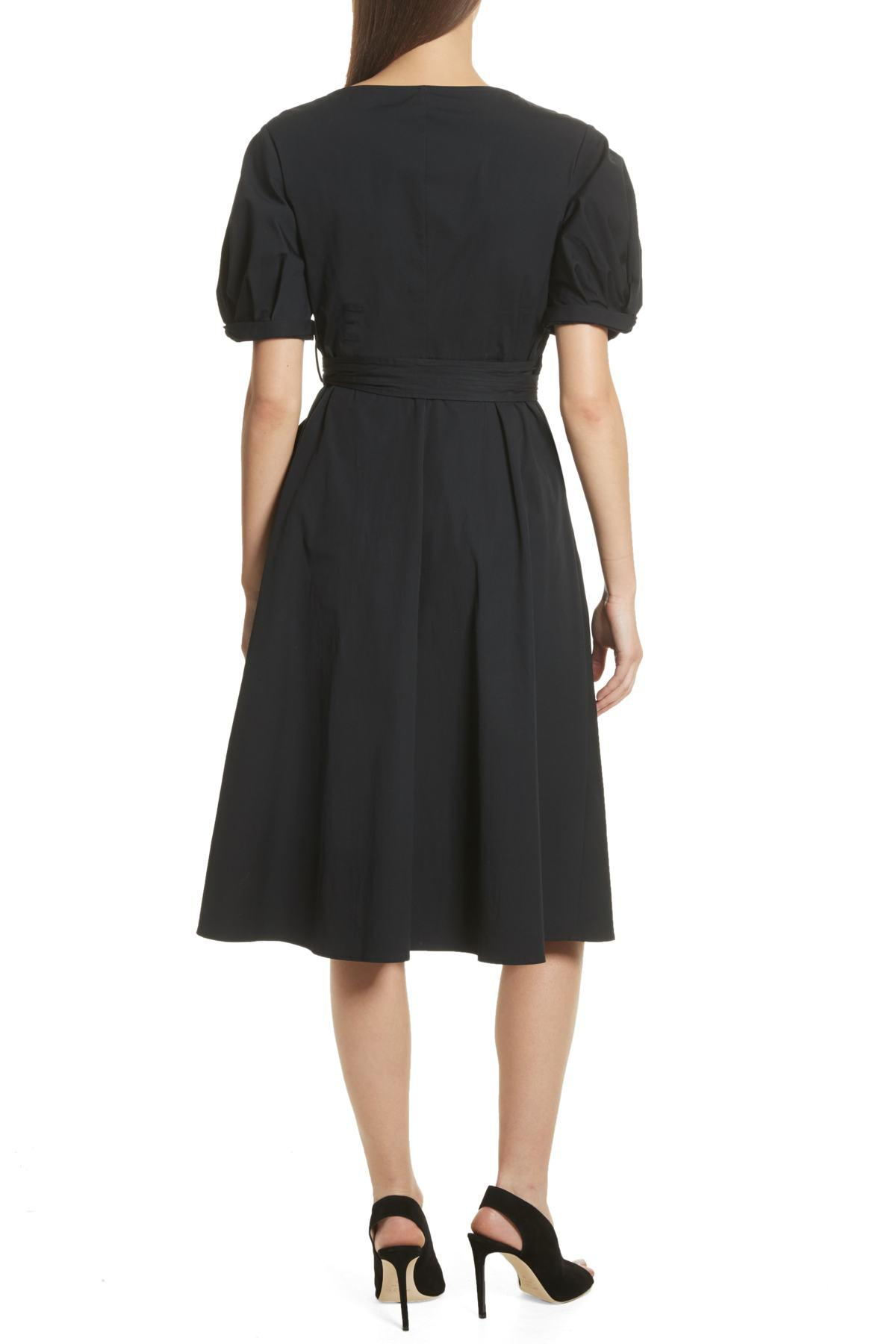 ba84b5f927 Lyst - A.L.C. Meghan Wrap Dress in Black