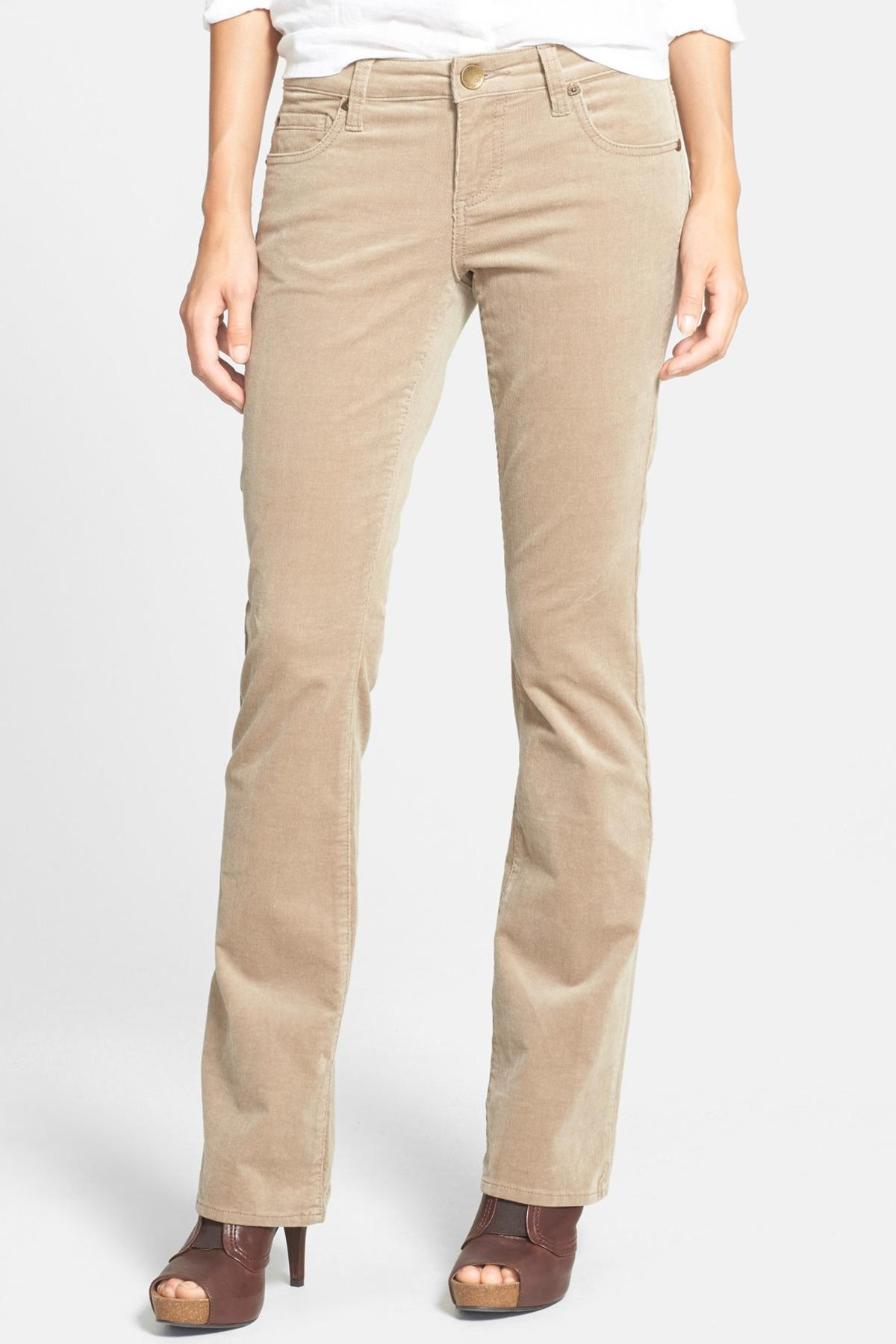 e7b674073680 Lyst - Kut From The Kloth Baby Bootcut Corduroy Pants in Natural