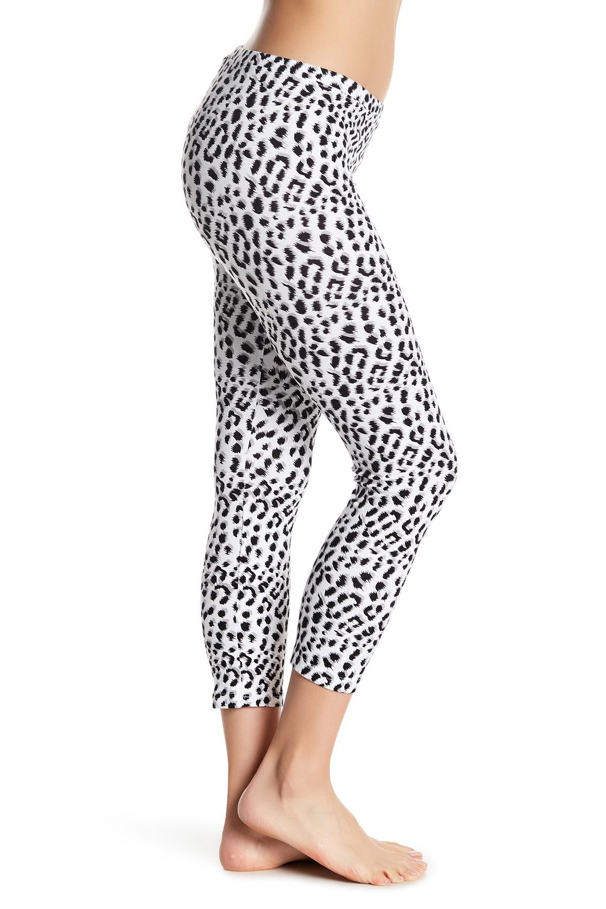 b3601829c93 Hue White Leopard Print Capri Legging