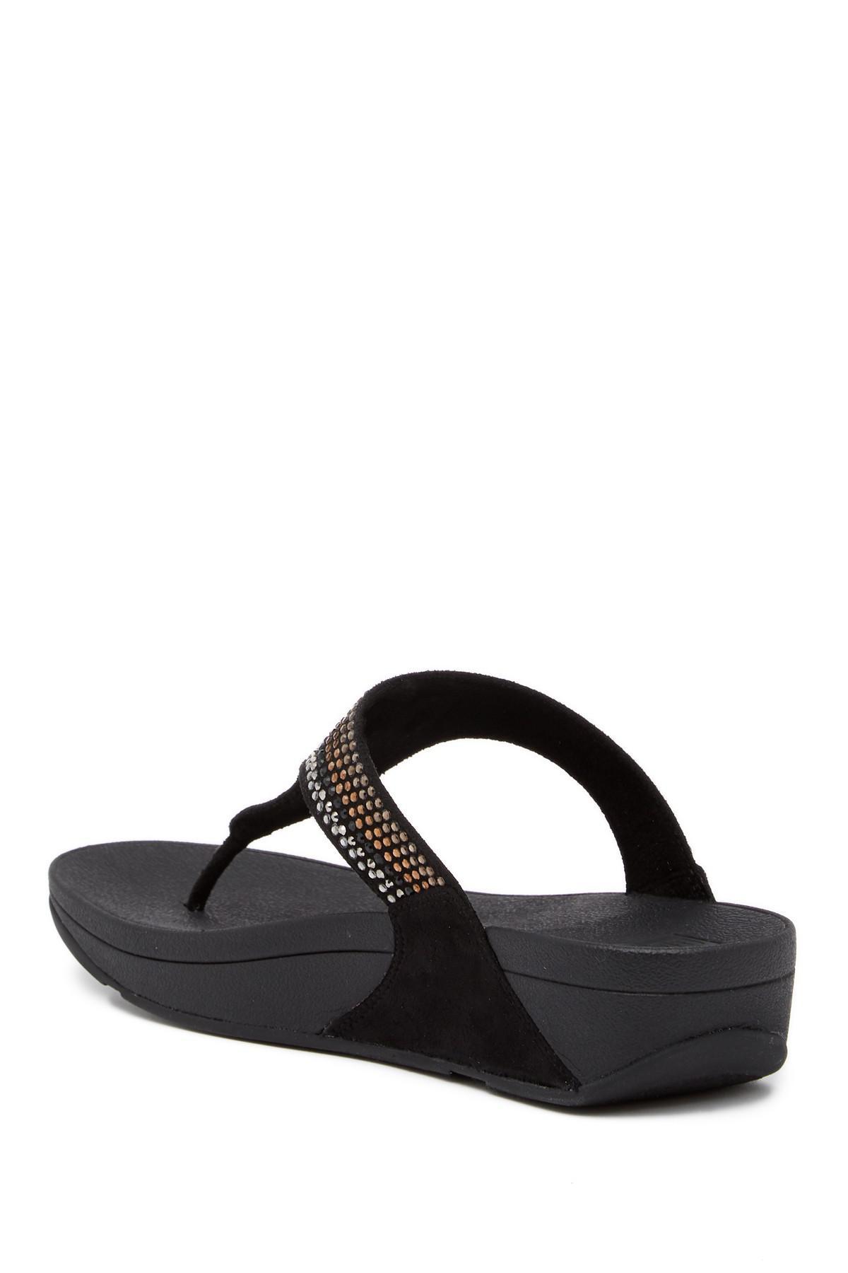Fitflop Strobe Luxe Embellished Wedge Thong Sandal vVZj7MGT