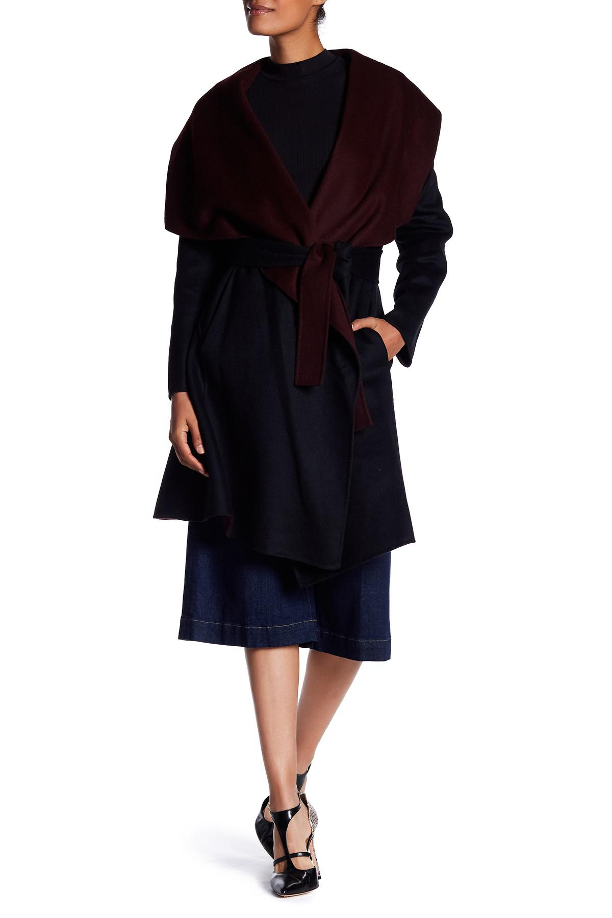 Lyst Diane Von Furstenberg Two Tone Double Face Wool