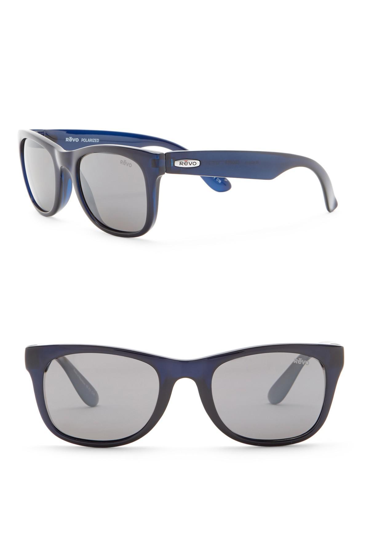 598300e2aa Lyst - Revo Cooper Polarized 52mm Retro Sunglasses in Blue for Men