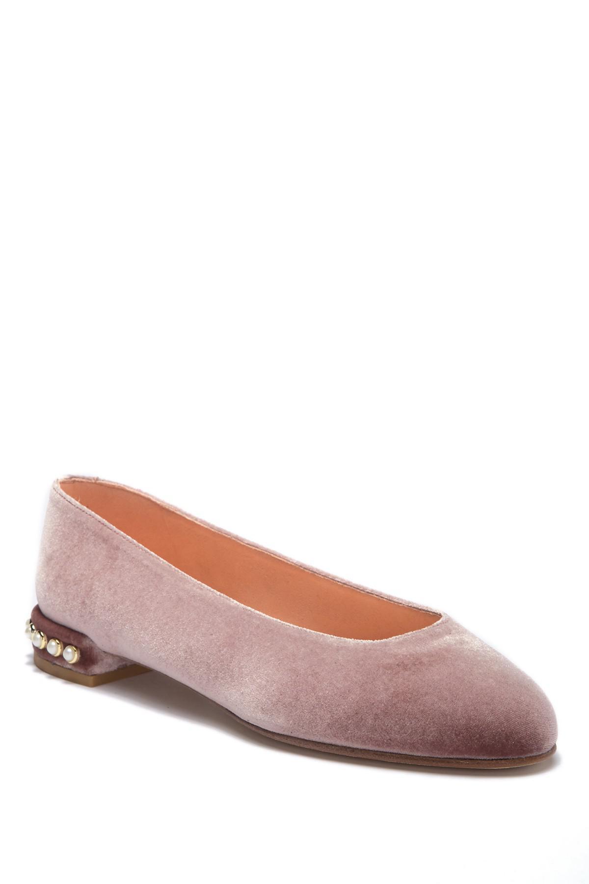 temperament shoes authorized site skate shoes Stuart Weitzman Suede Chic Pearl Ballet Flat - Lyst