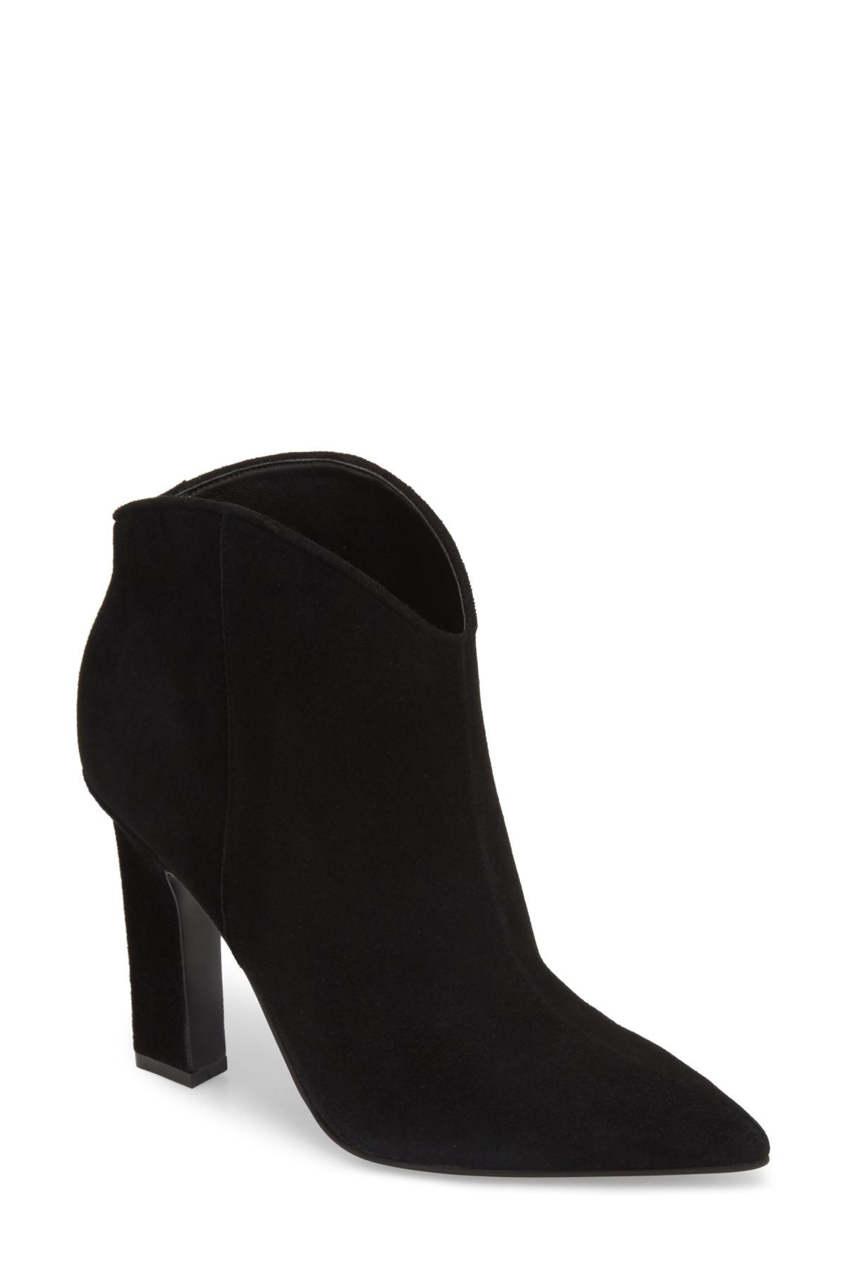 9c45bb41302 Lyst - Marc Fisher Miggi Bootie in Black