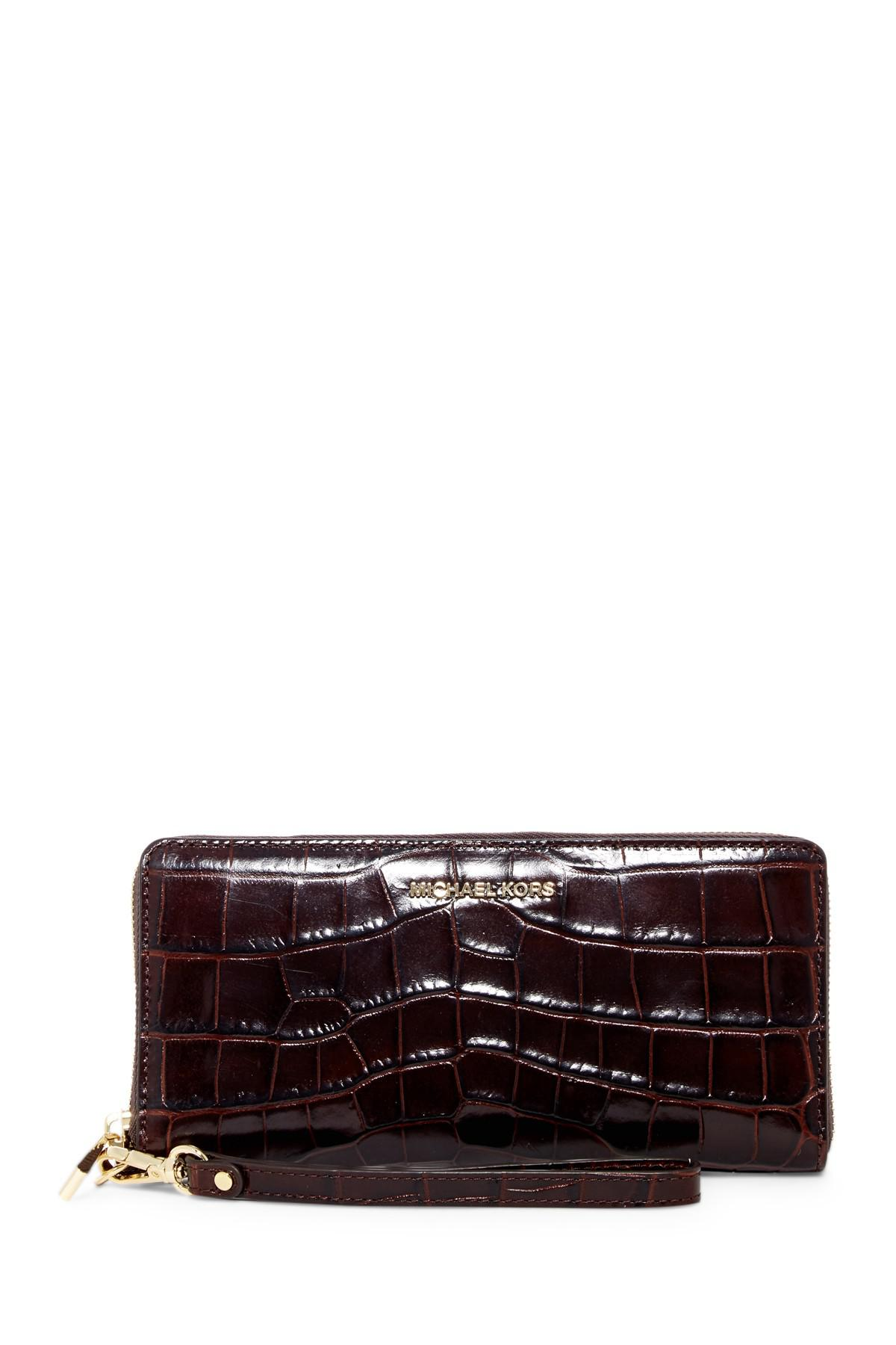 Lyst Michael Michael Kors Croc Embossed Travel