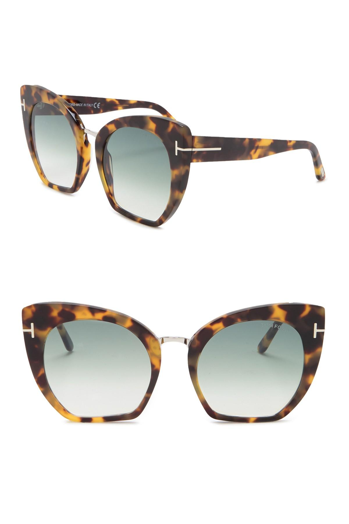 77a57e9038a Tom Ford. Women s Samantha 55mm Modified Cat Eye Sunglasses
