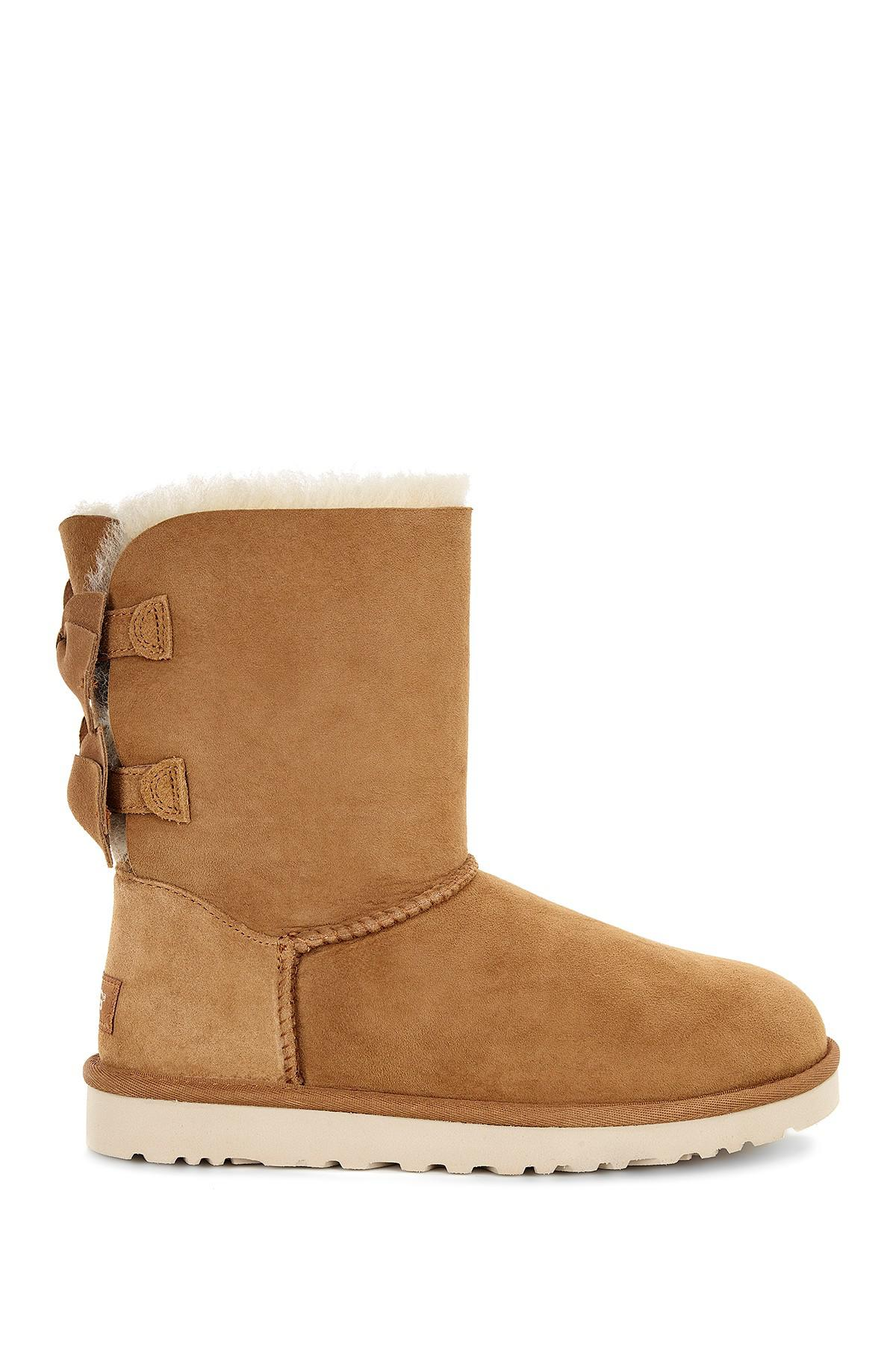 Ugg Meilani Bow Uggpure Tm Lined Boot In Brown Lyst