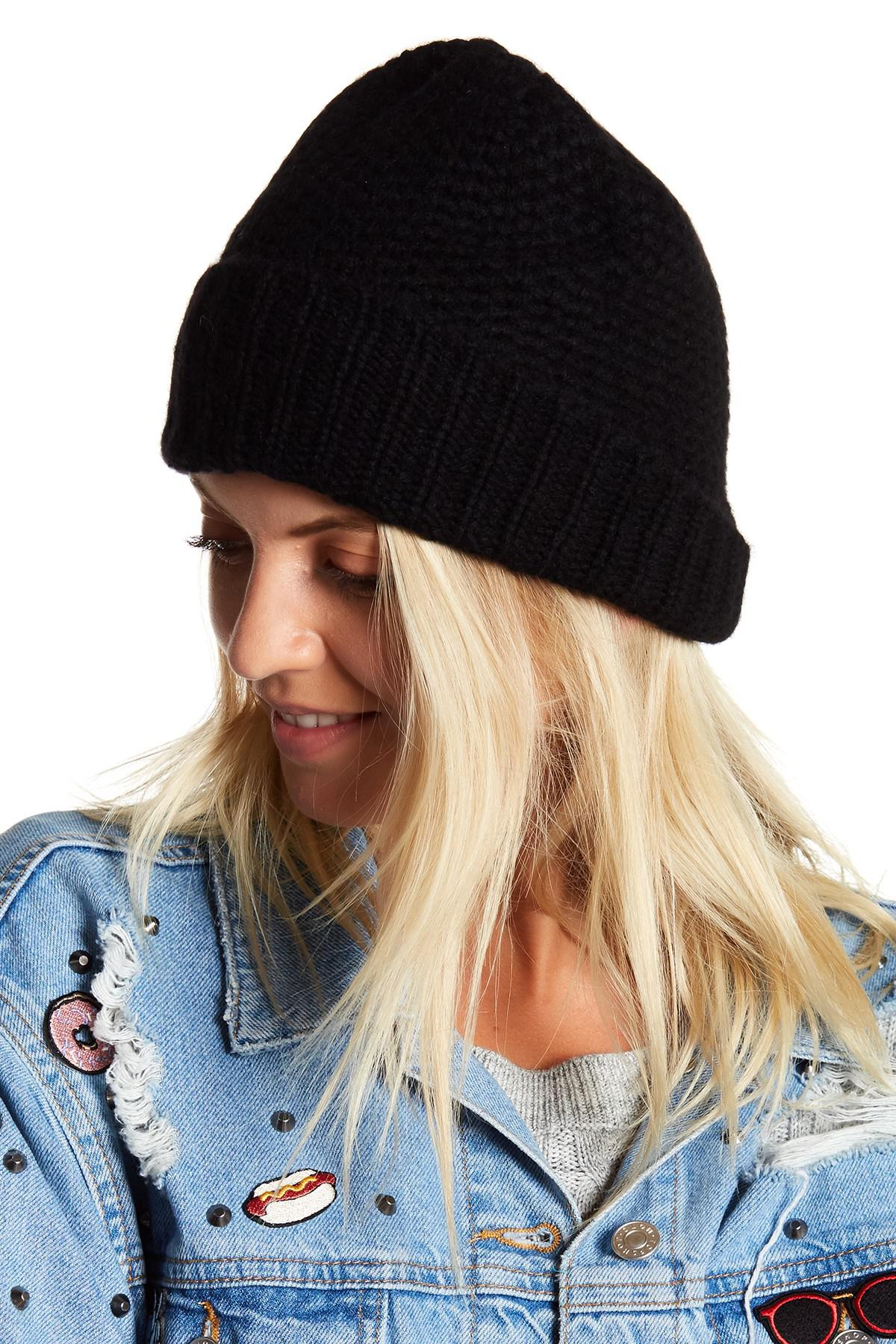 Lyst - Skull Cashmere Knit Cashmere Beanie in Black ec18ebafae9