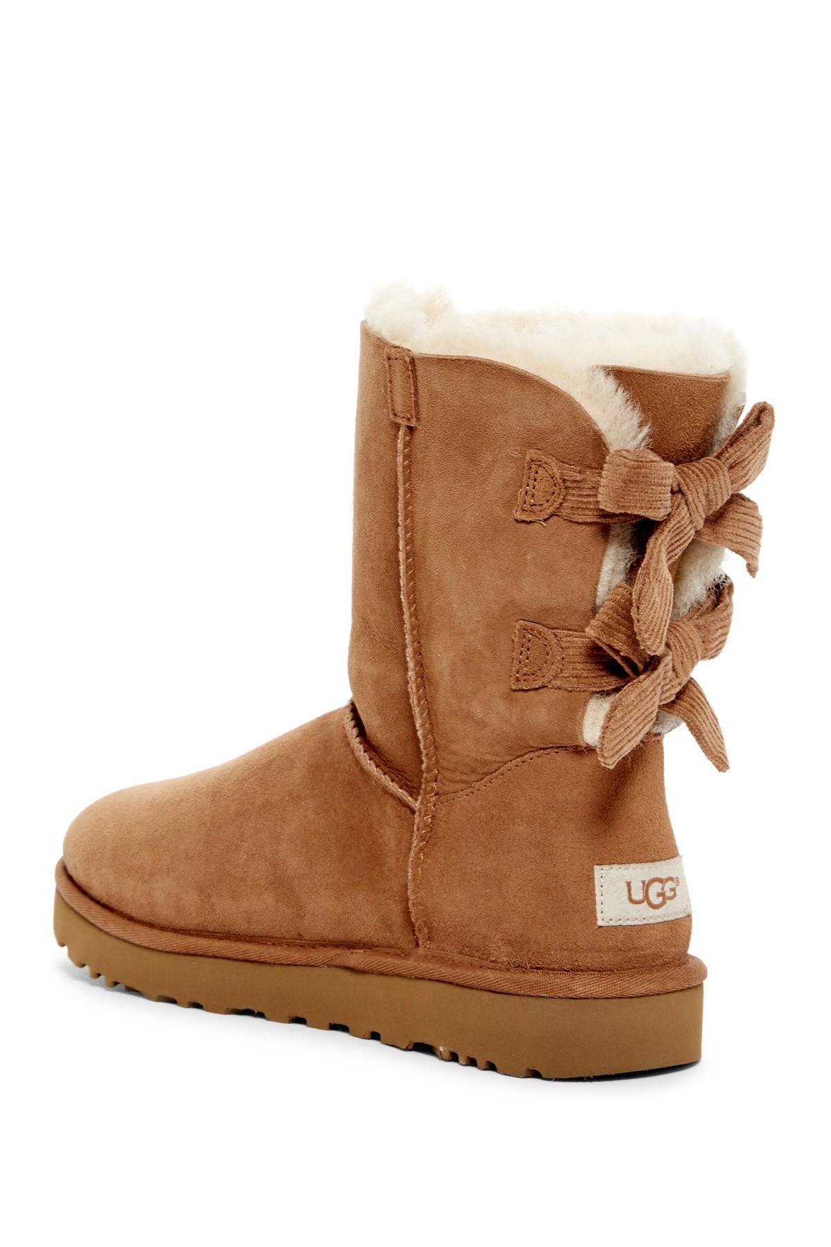 b4f7590e253 Women's Brown Bailey Twinface Genuine Shearling & Pure(tm) Bow Corduroy Boot