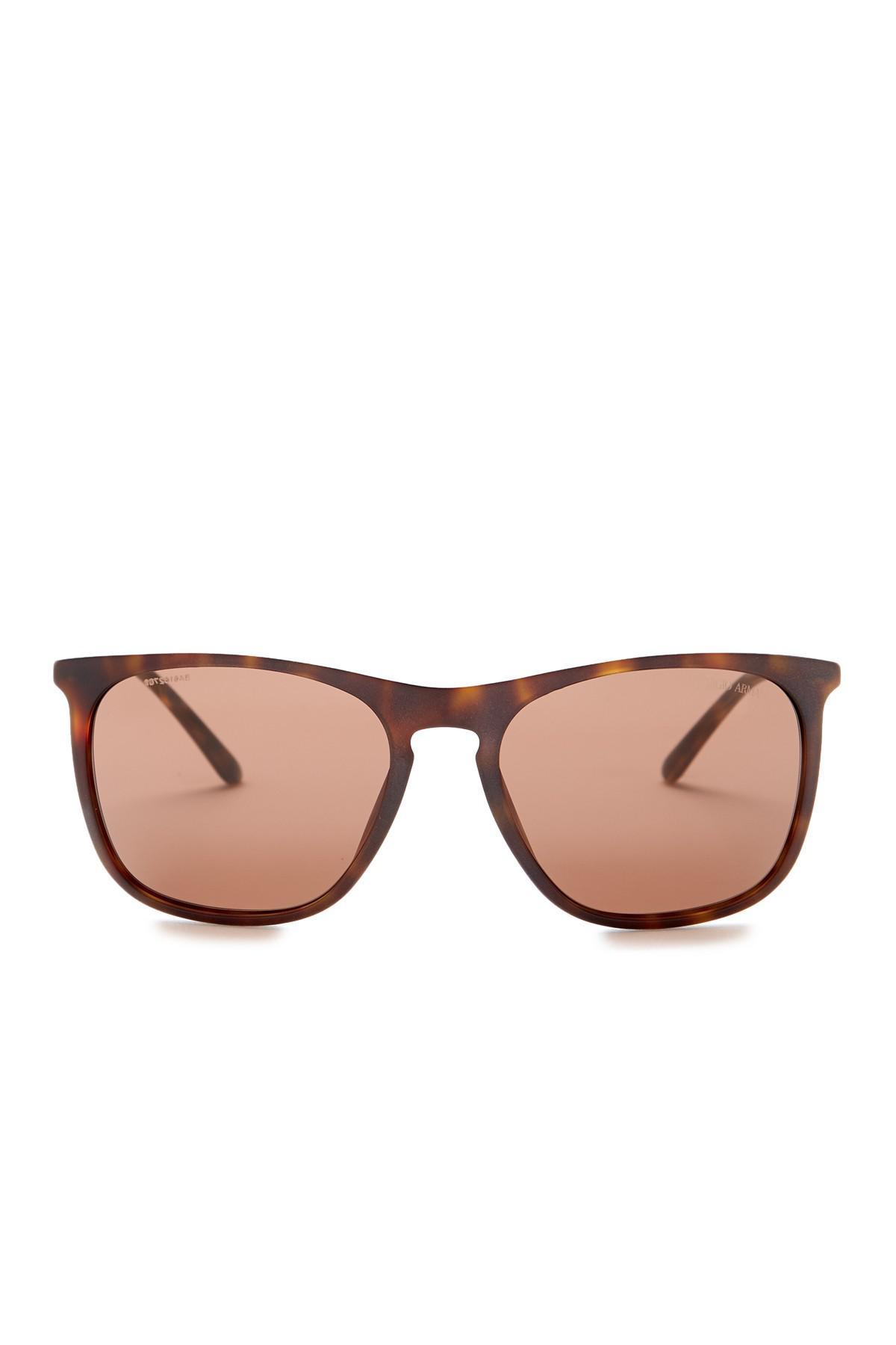 0513d6f7ce8 Lyst - Giorgio Armani Men s Square Matte Havana Sunglasses in Brown ...