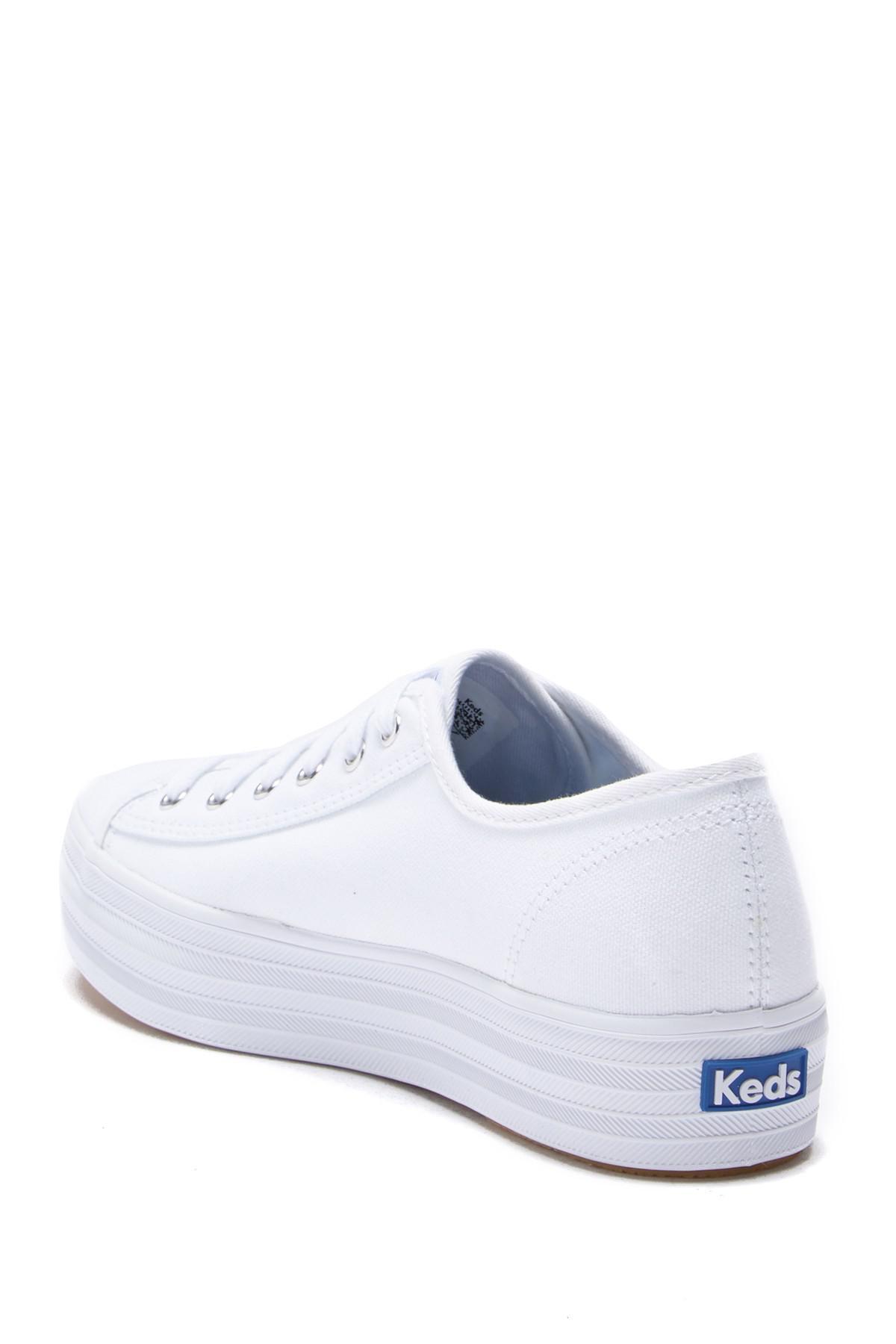 a64a1b6ce1b9e Keds - Triple Kick Canvas (white) Women s Lace Up Casual Shoes - Lyst. View  fullscreen