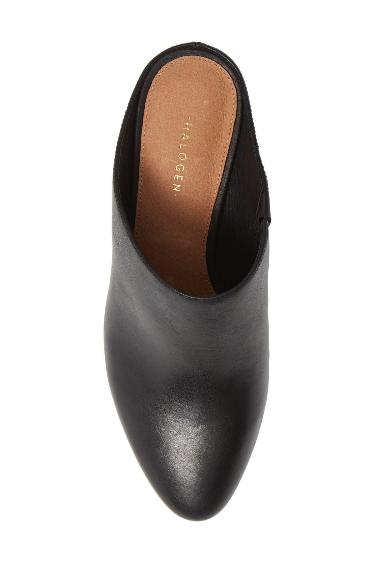 Halogen Brielle Mule in Black Leather