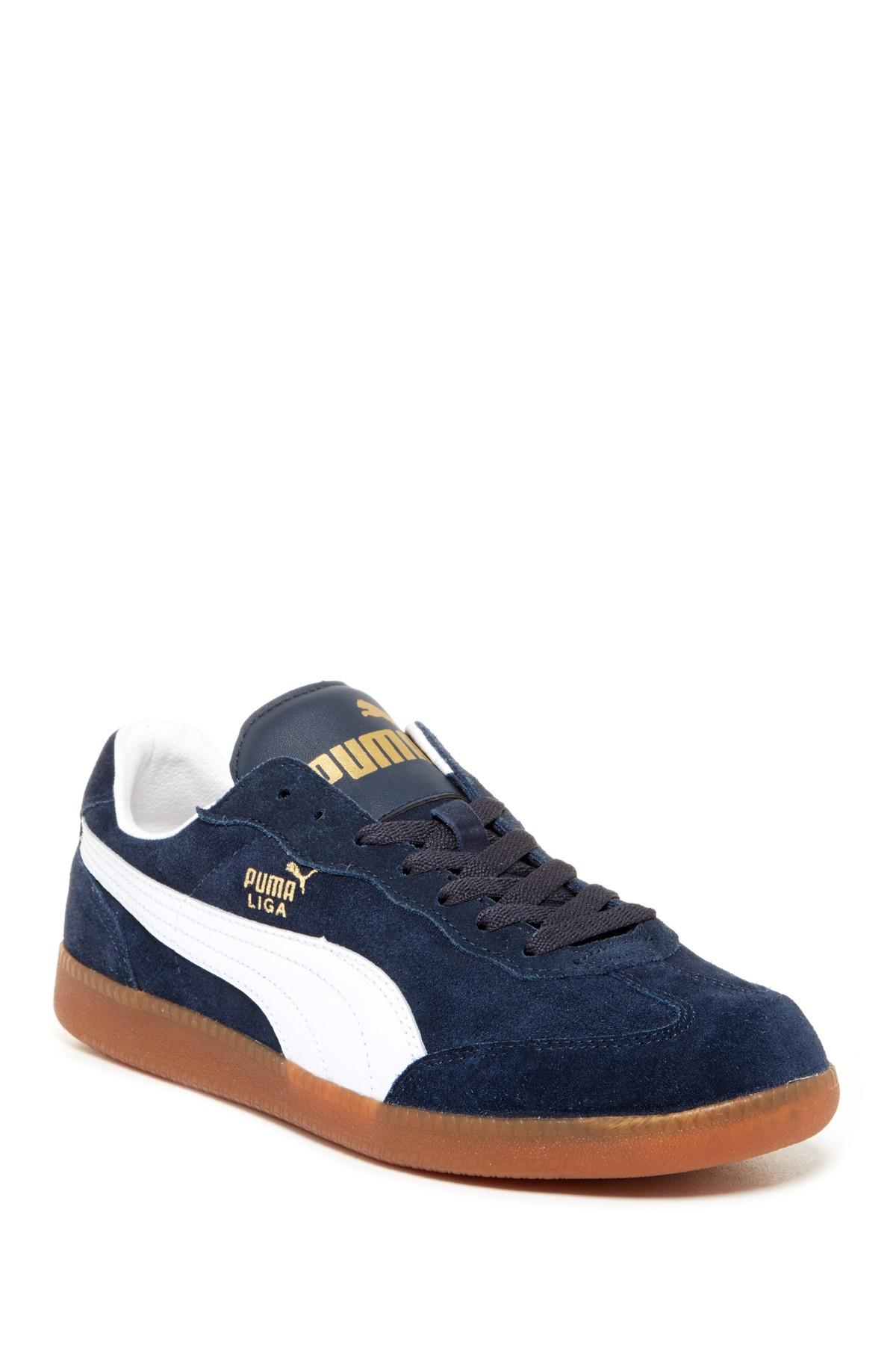 PUMA Liga Suede Sneaker in Navy-White (Blue) for Men - Lyst