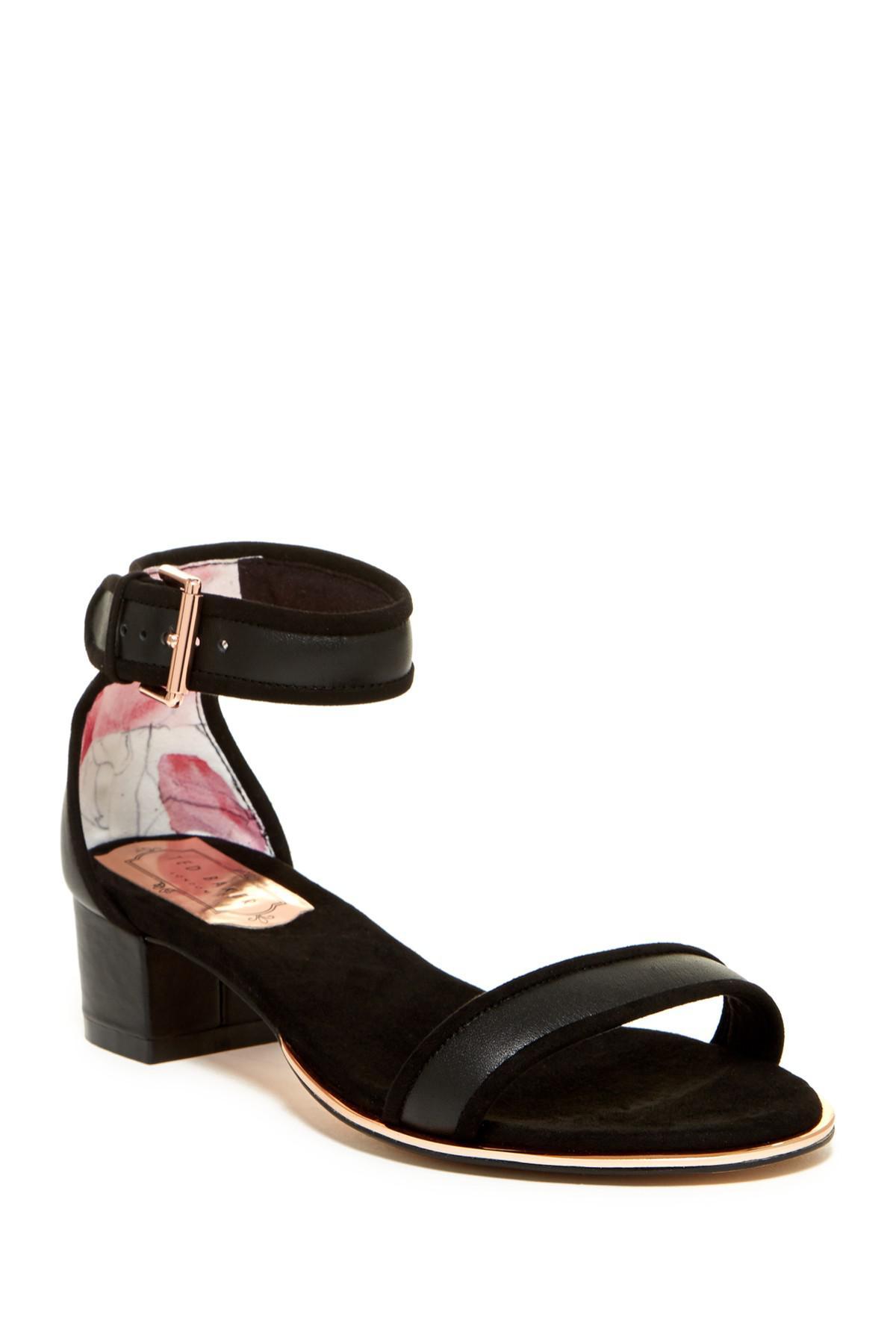 a63efdf5b46e0 Lyst - Ted Baker Ruz Block Heel Sandal in Black