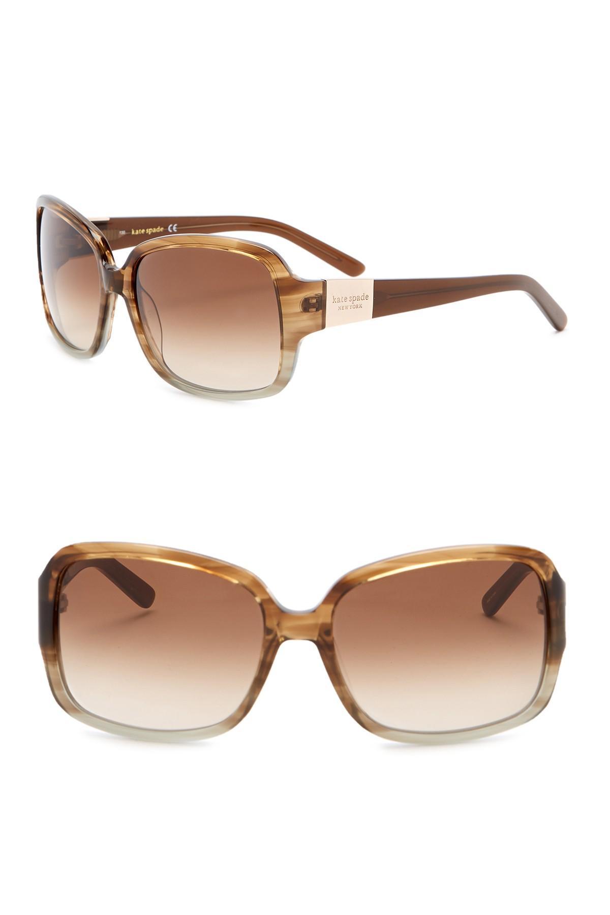 24f45c19bd18 Kate Spade Lulu 55mm Sunglasses in Brown - Lyst
