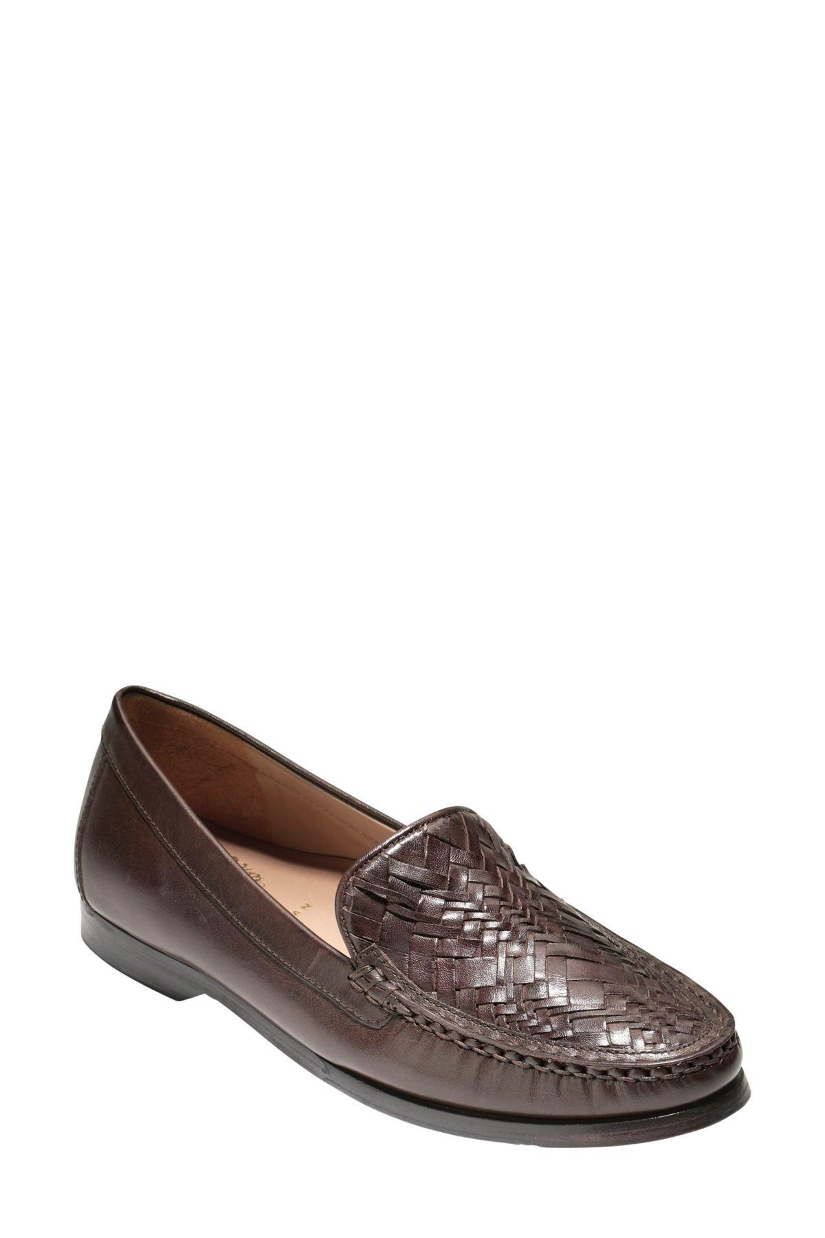 c665651f220 Lyst - Cole Haan Pinch Genevieve Woven Loafer in Brown