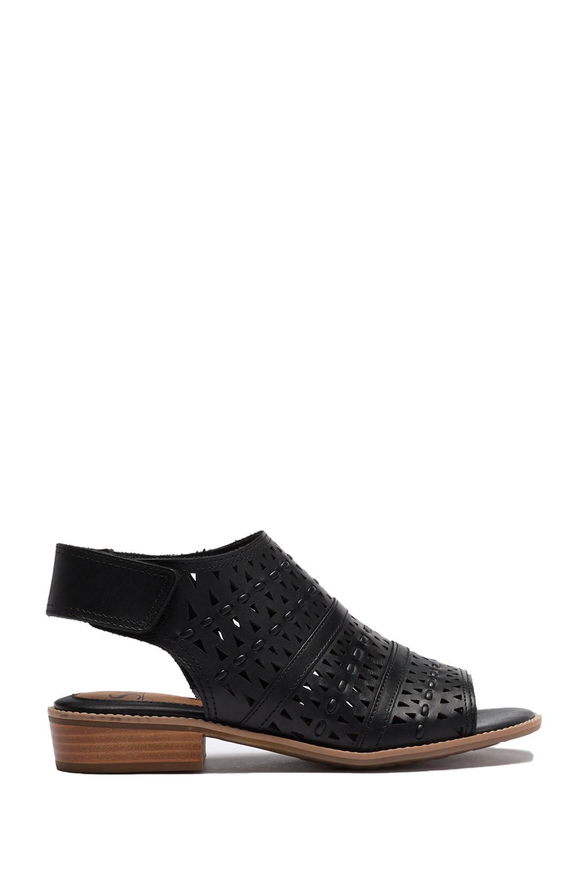bb61509d Söfft Black Natalee Perforated Peep Toe Sandal
