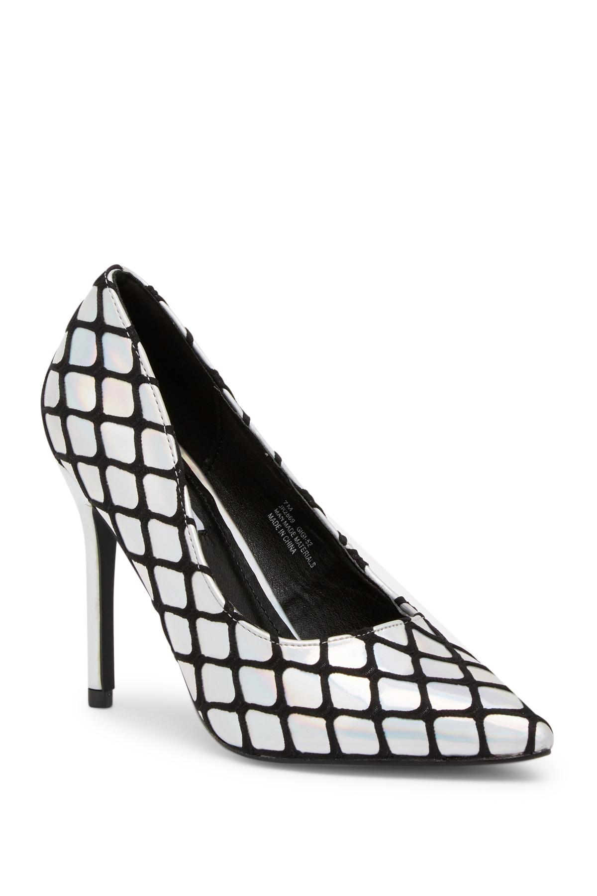 e39d4050d0a Cape Robbin Black Gigi Fishnet Stiletto Heel