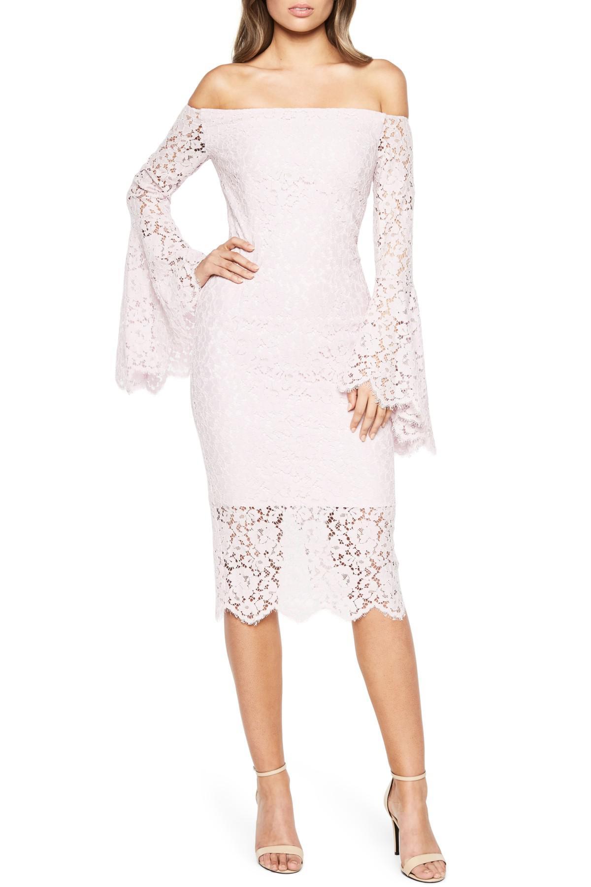 c1f15cd3 Bardot Solange Corded Lace Sheath Dress - Lyst