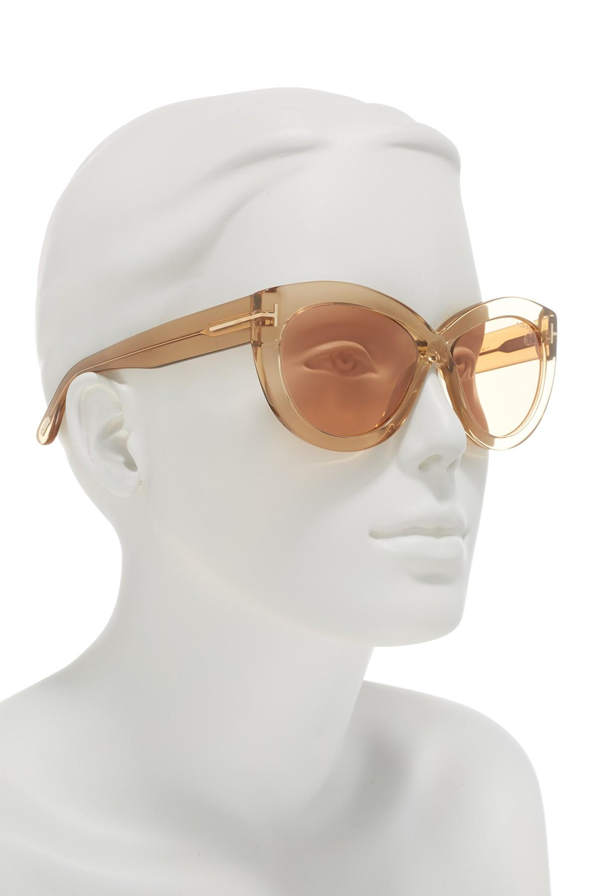 acc9e90303a Tom Ford - Multicolor 56mm Diane Butterfly Sunglasses - Lyst. View  fullscreen