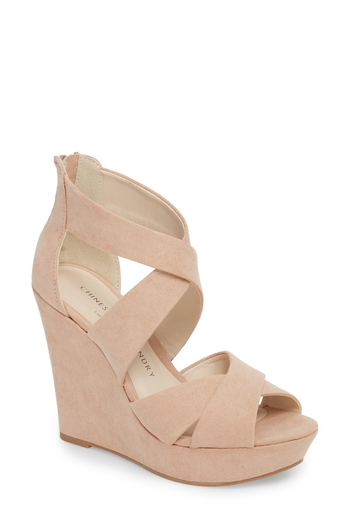 df96d8ec5f5bd8 Lyst - Chinese Laundry Milani Platform Wedge Sandal (women) in ...