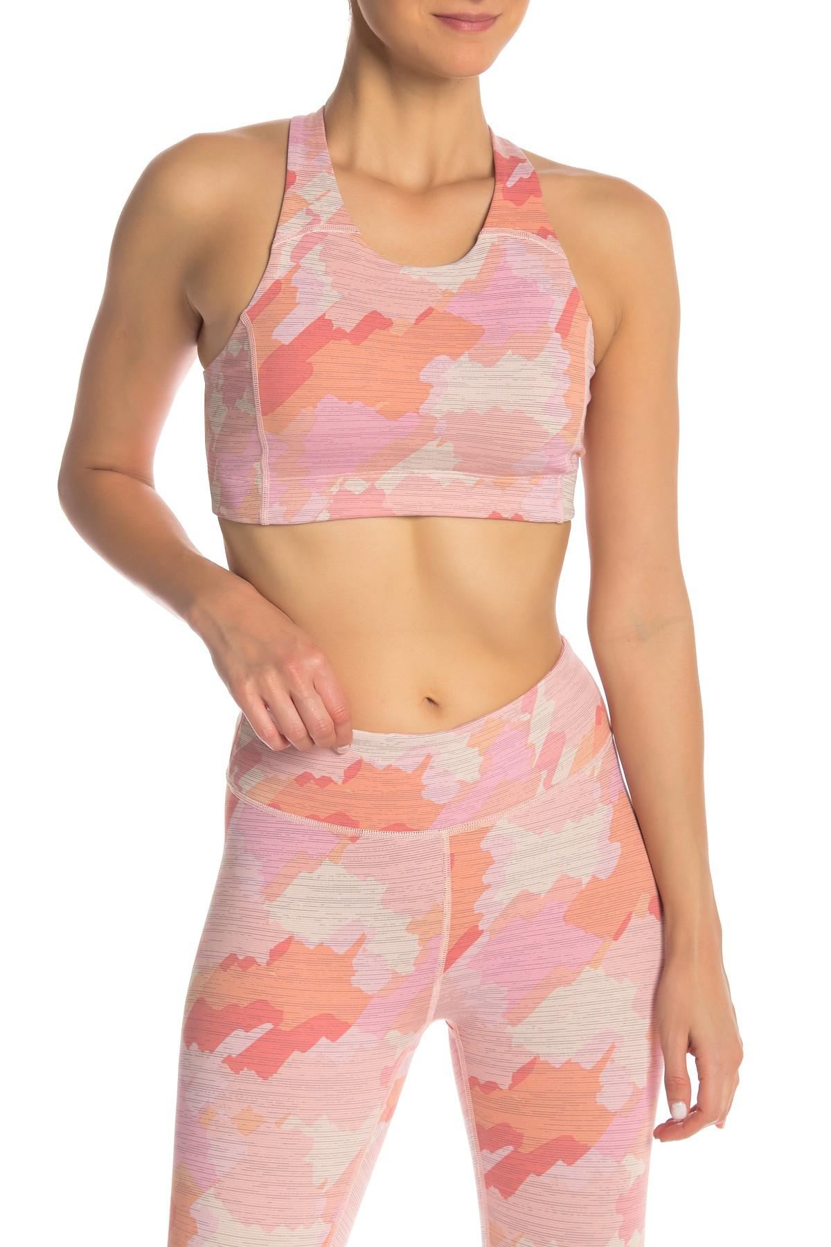 693338379c Lyst - Outdoor Voices Printed Sports Bra in Pink