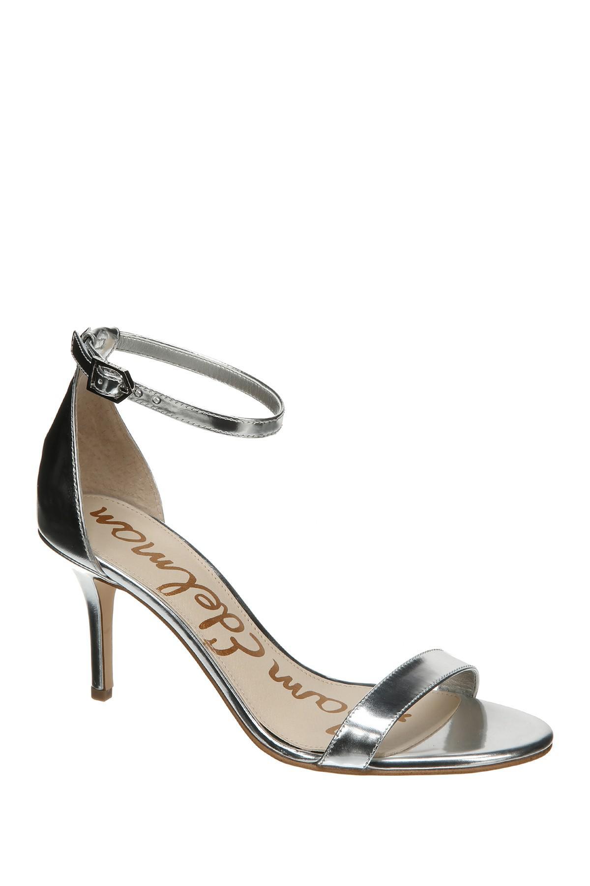 73cc36127 Lyst - Sam Edelman Patti Ankle Strap Sandal in Metallic