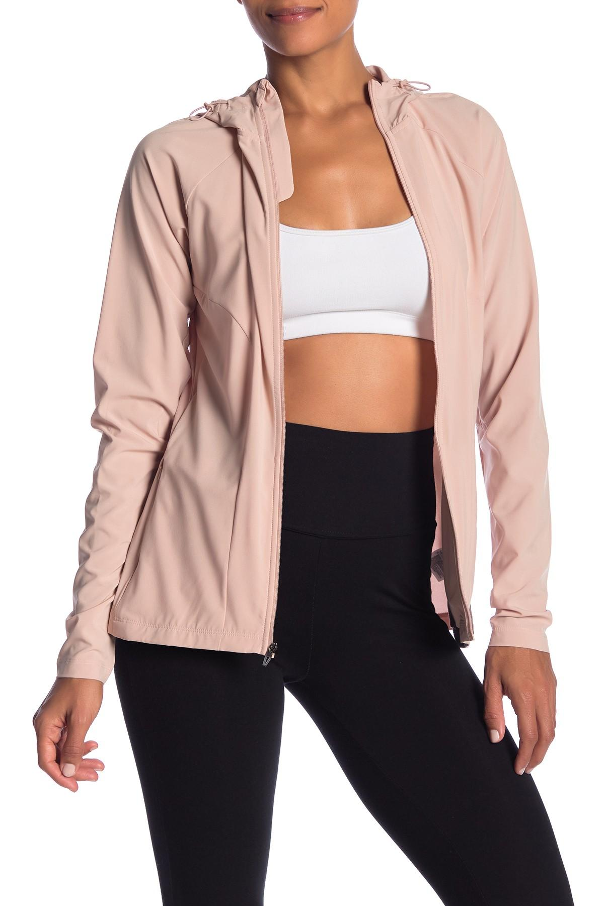 034602d99cfe Lyst - adidas Freelift Woven Jacket in Pink