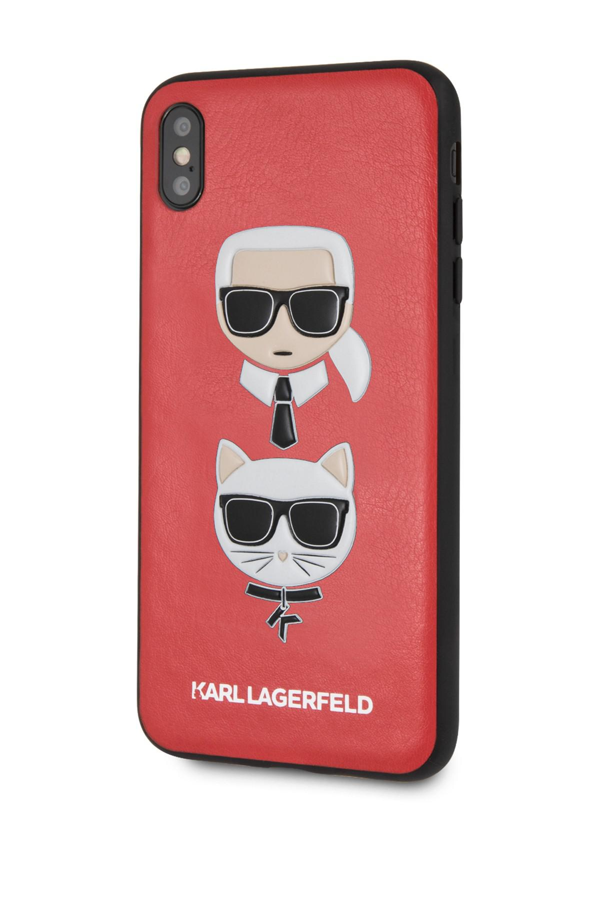 hot sale online f66fc cb7e9 Karl Lagerfeld Red Pu Embossed Hard Iphone Xs Max Case