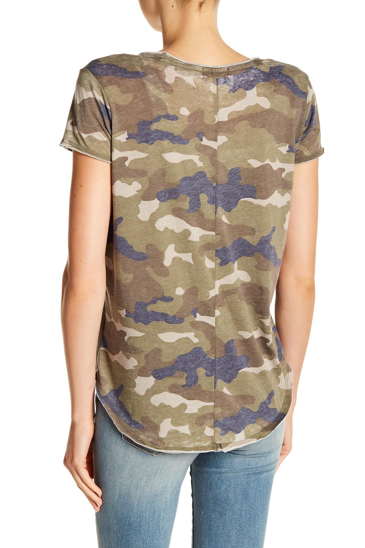 86bd9ddbce7 Lyst - William Rast Stardust Shine Camo Graphic Shirt in Green