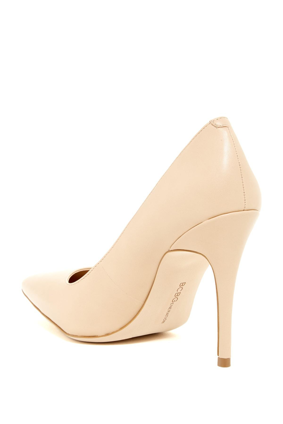 f3bf47491996 Lyst - Bcbgeneration Oslo Pump - Wide Width Available in Natural